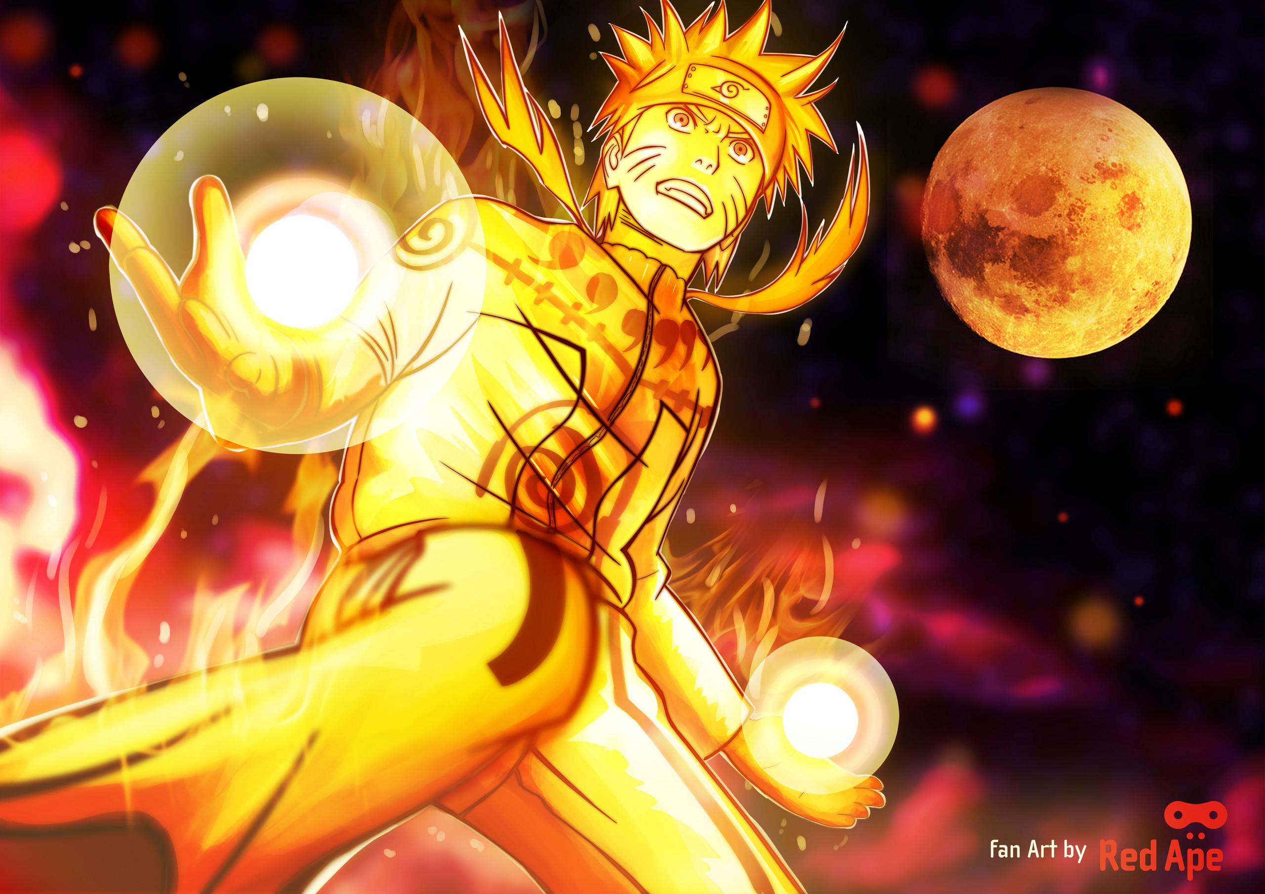 Awesome Naruto Nine Tails Chakra Mode Photo. Amusing Naruto Shippuden Nine  Tailed Fox