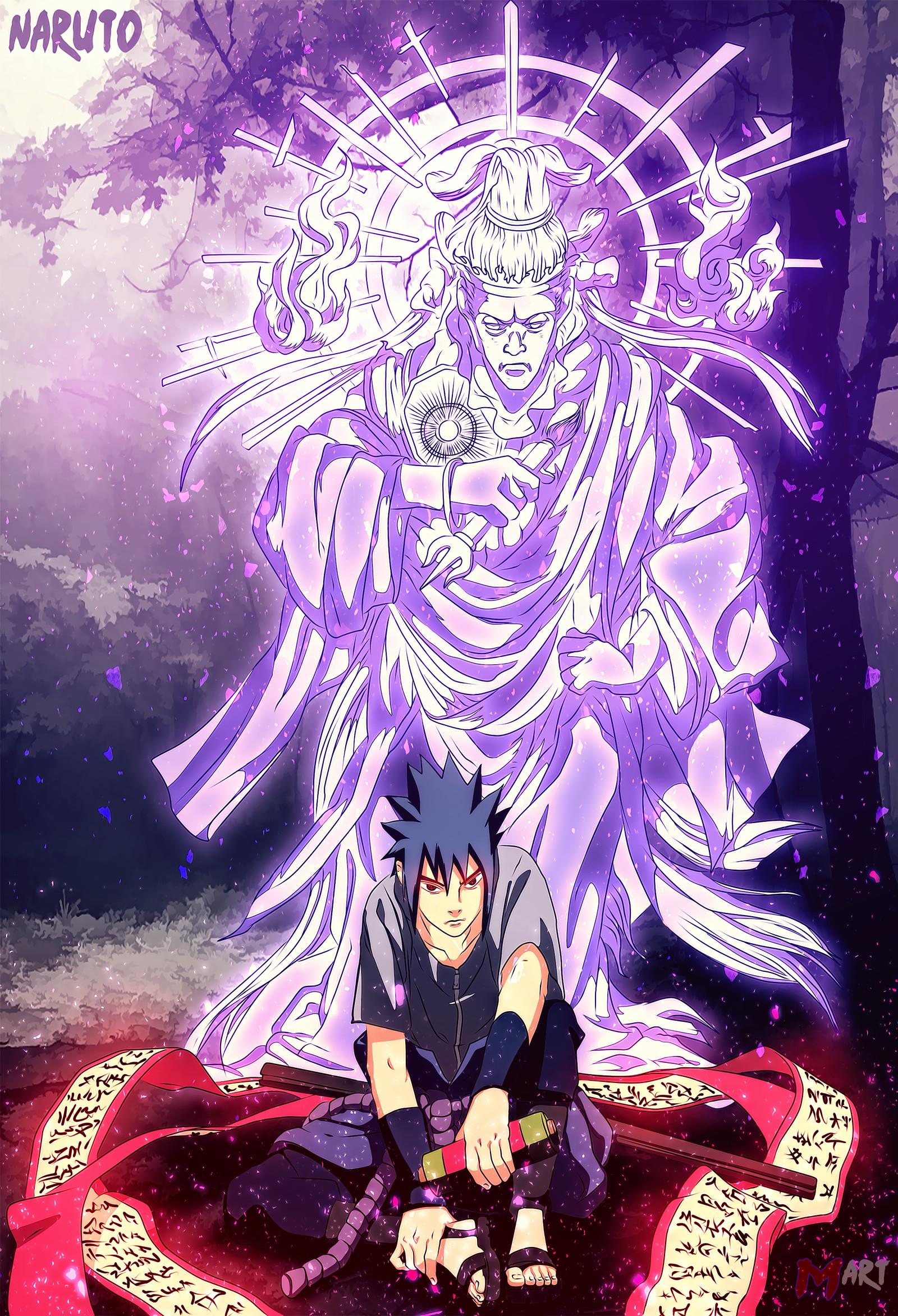 … Sasuke with Indra Chakra by MArttist