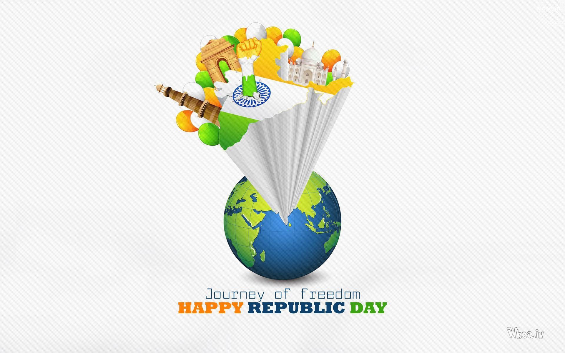… Journey Of Freedom Happy Republic Day HD Wallpaper …
