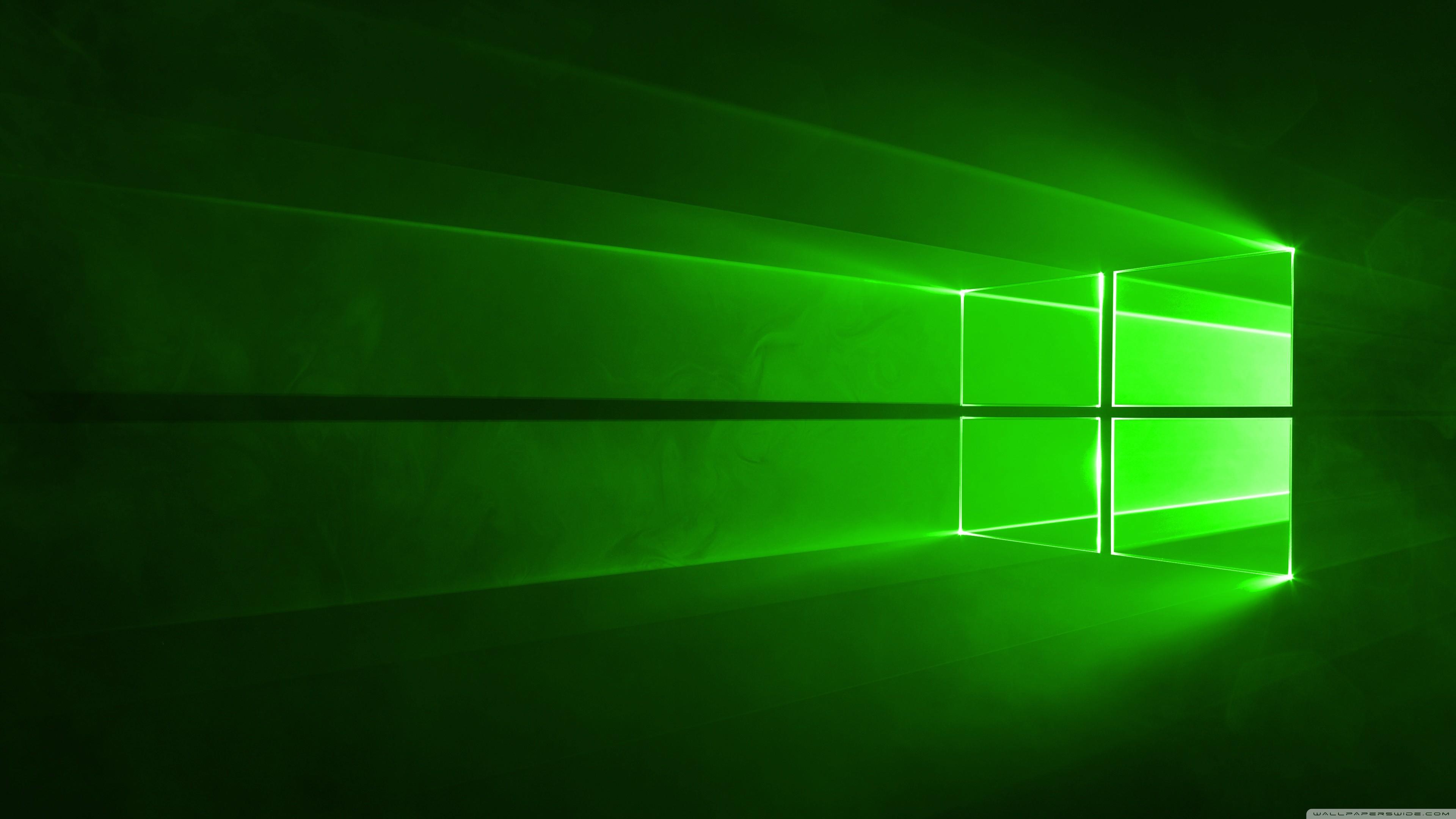 Windows 10 Green HD Wide Wallpaper for Widescreen