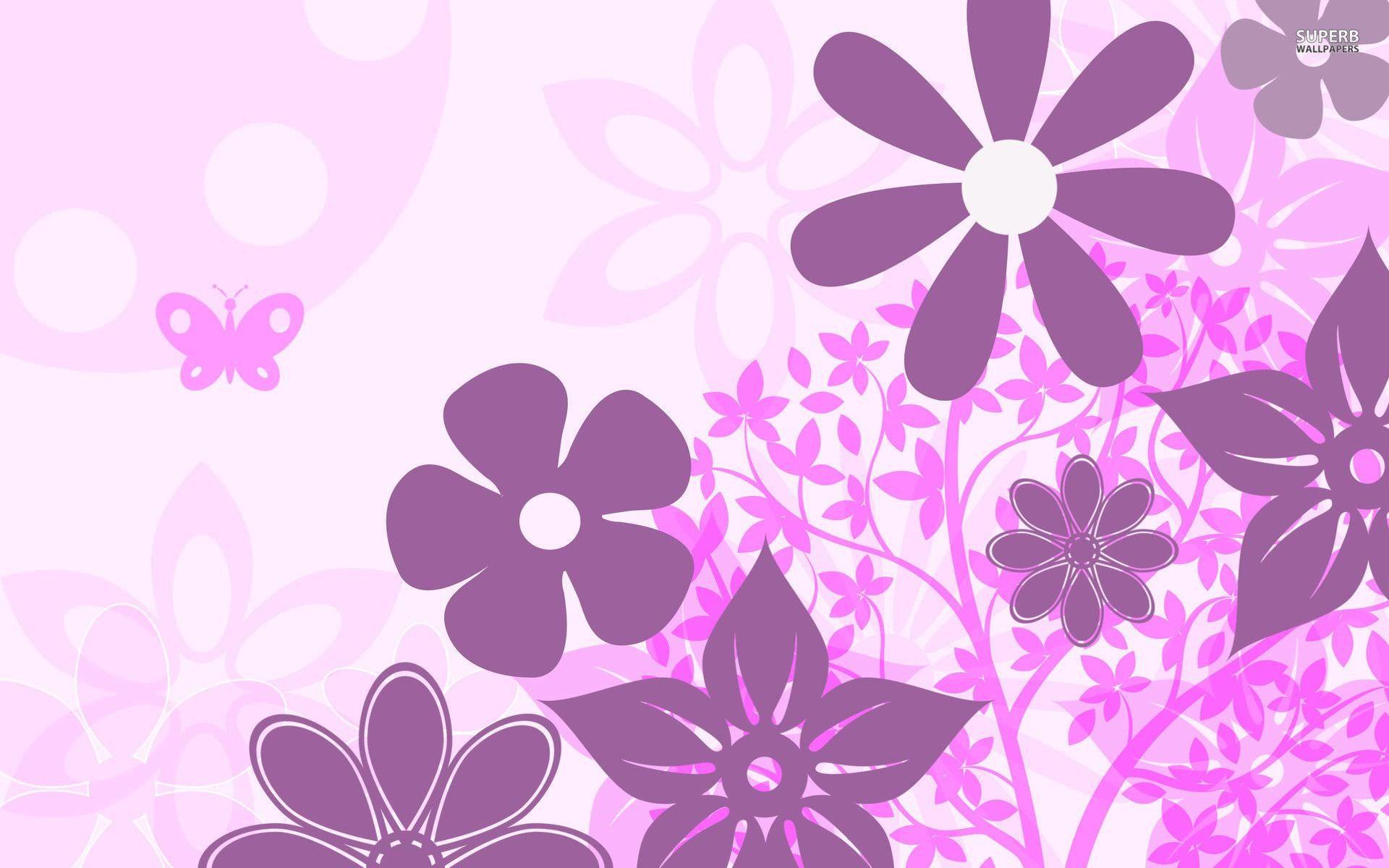 Purple floral pattern wallpaper – photo#9