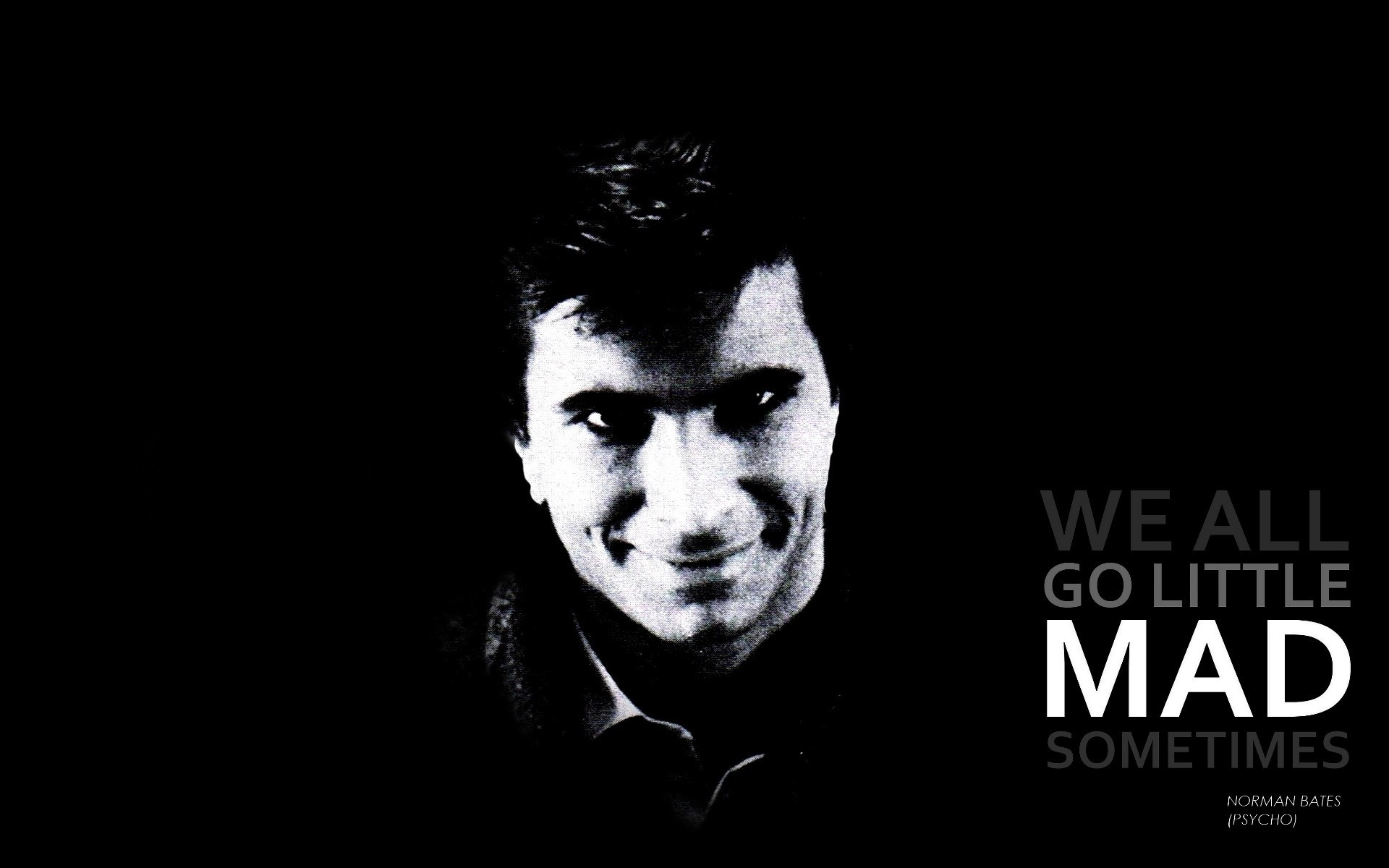 Wallpaper Quotes, Psycho, Grayscale, Alfred, Hitchcock .