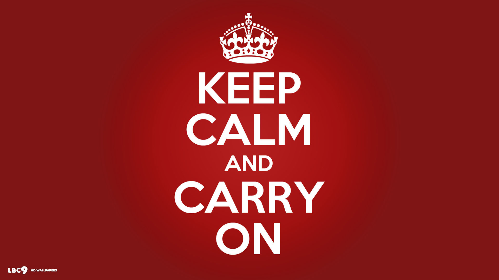 Keep Calm And Carry On White