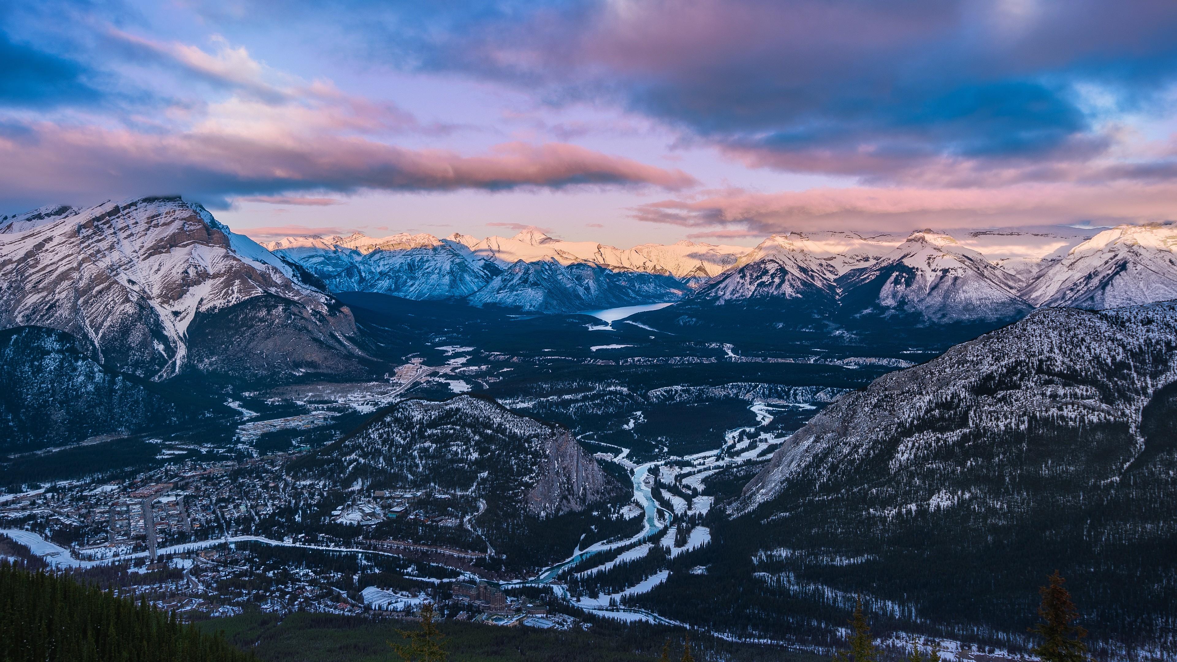 Bow Valley Sulphur Mountain 4K Ultra HD Desktop Wallpaper Uploaded by  DesktopWalls