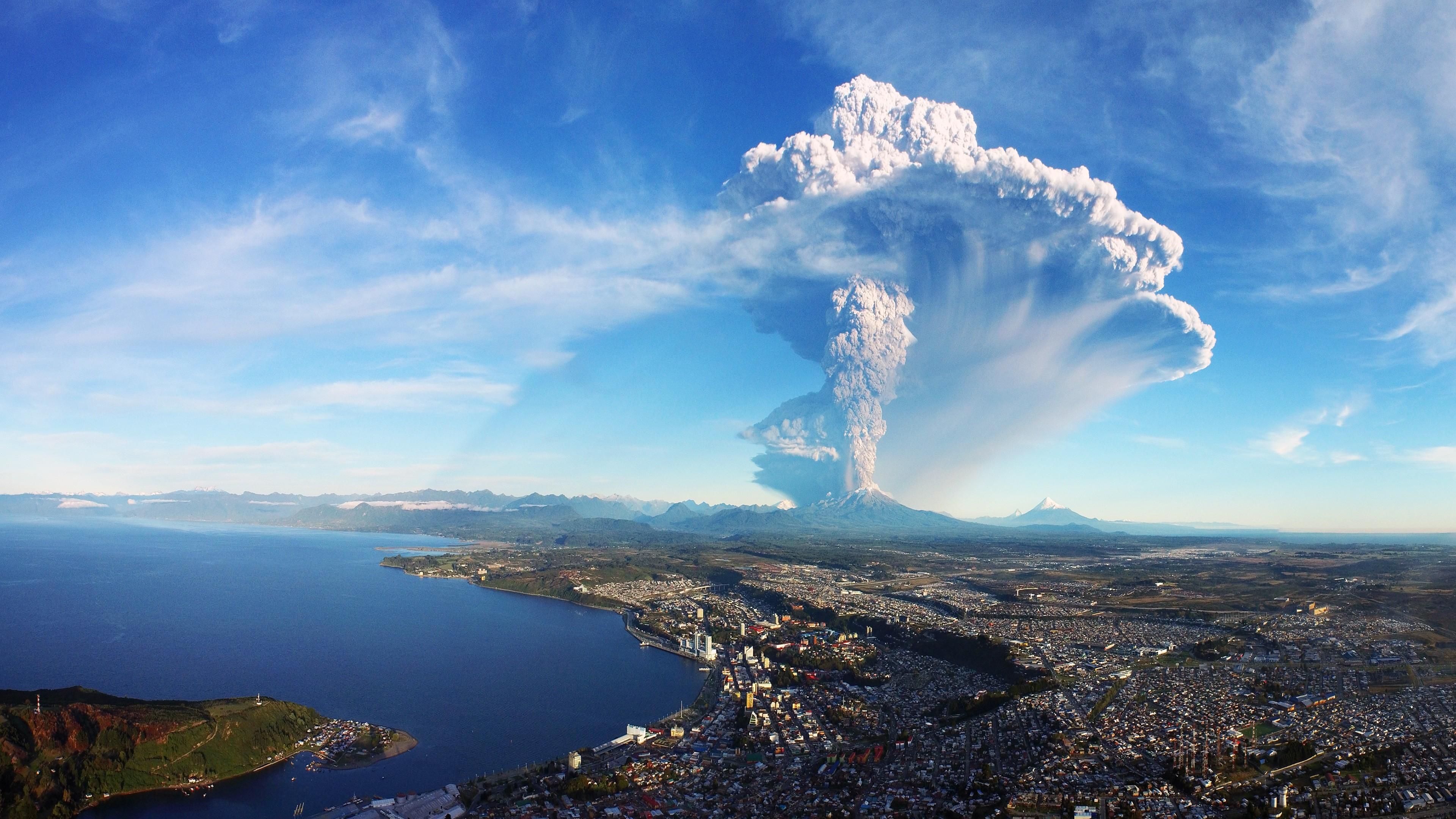 Landscape 4K Ultra HD Wallpaper | … Eruption Chile 4K Ultra HD Desktop  Wallpaper