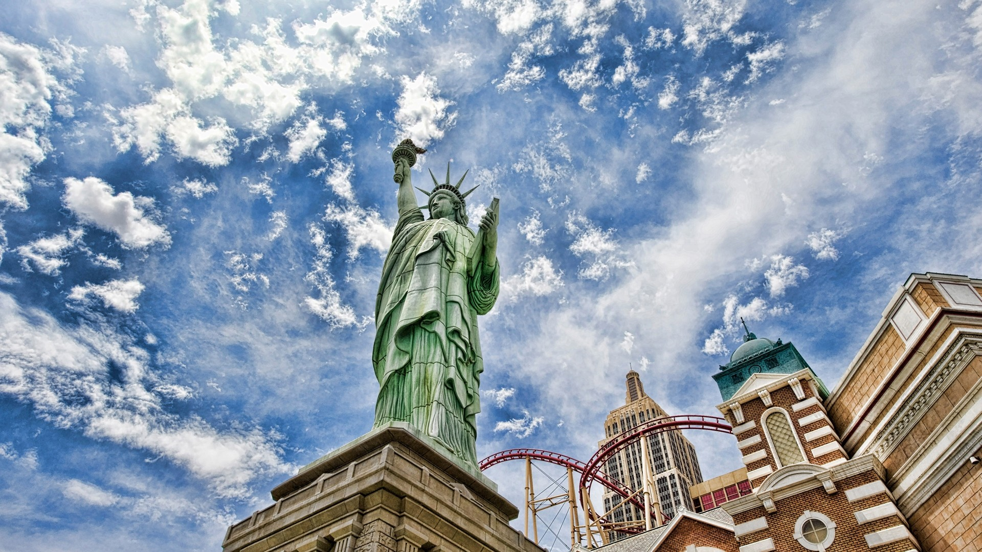 Preview wallpaper statue of liberty, new york, united states of america,  hdr 1920×1080