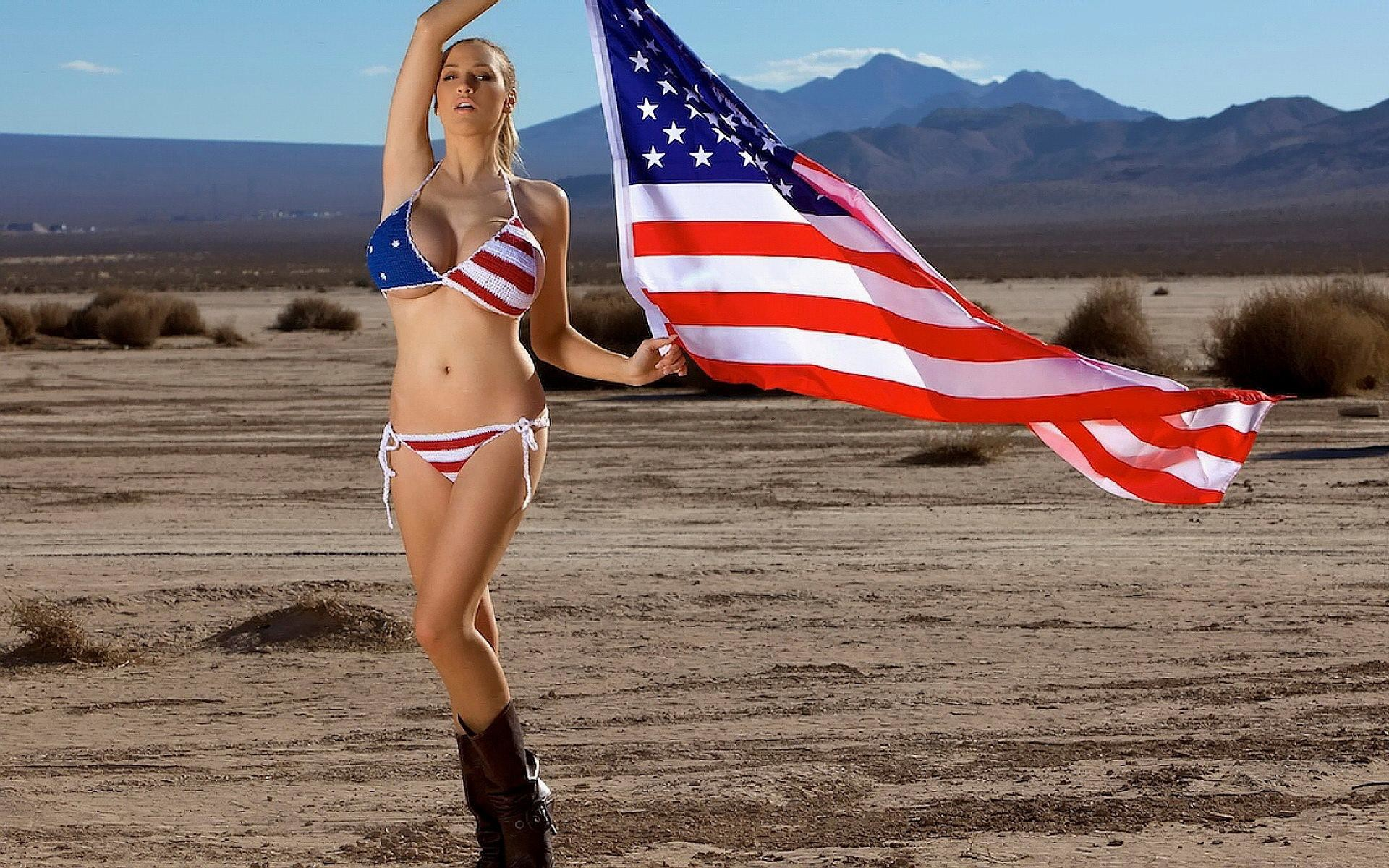 Beautiful-girl-with-american-flag-wallpaper-iphone-5