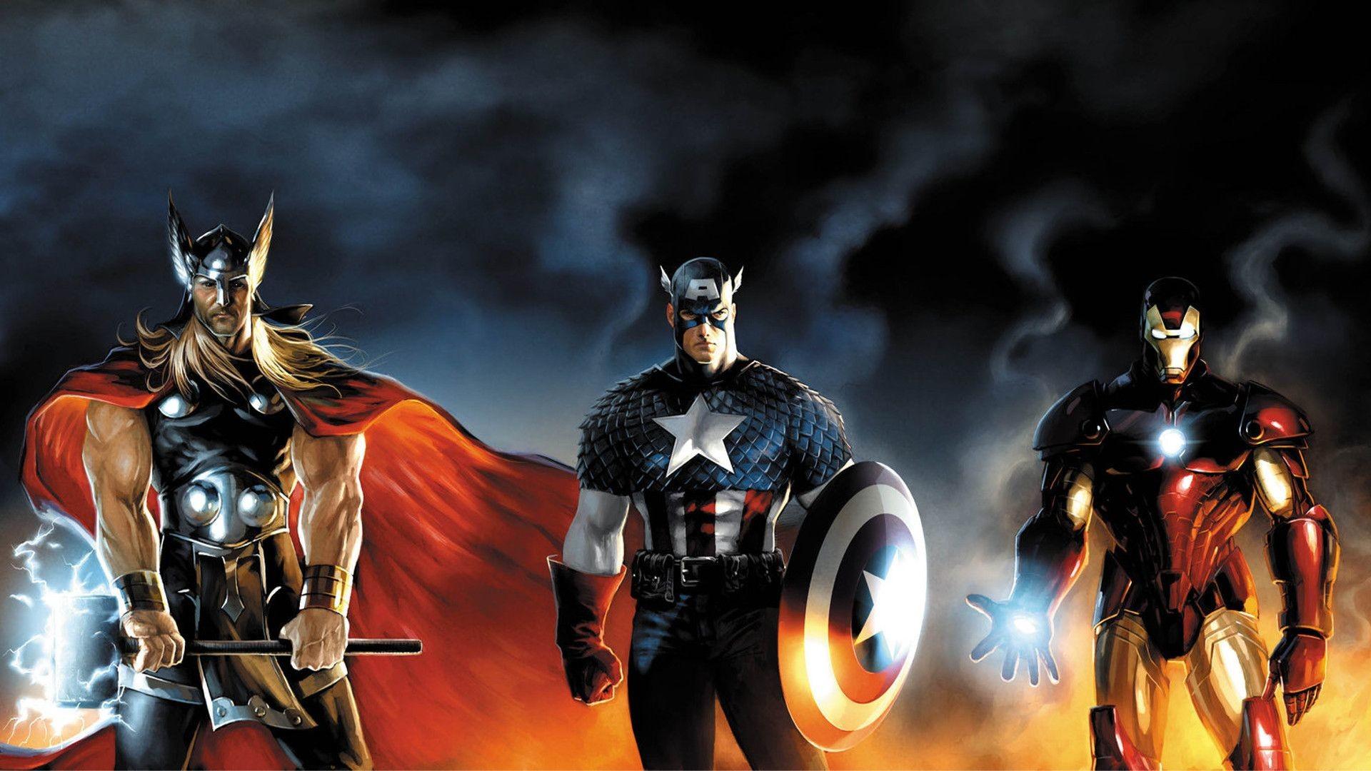 Thor, Captain America, Iron Man – The Avengers HD Amazing .