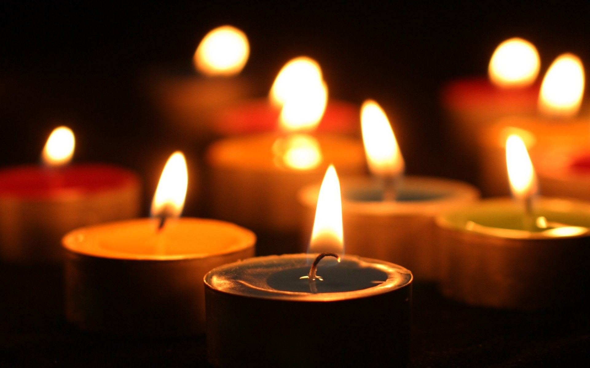 Candle light at night DSLR effect HD wallpapers