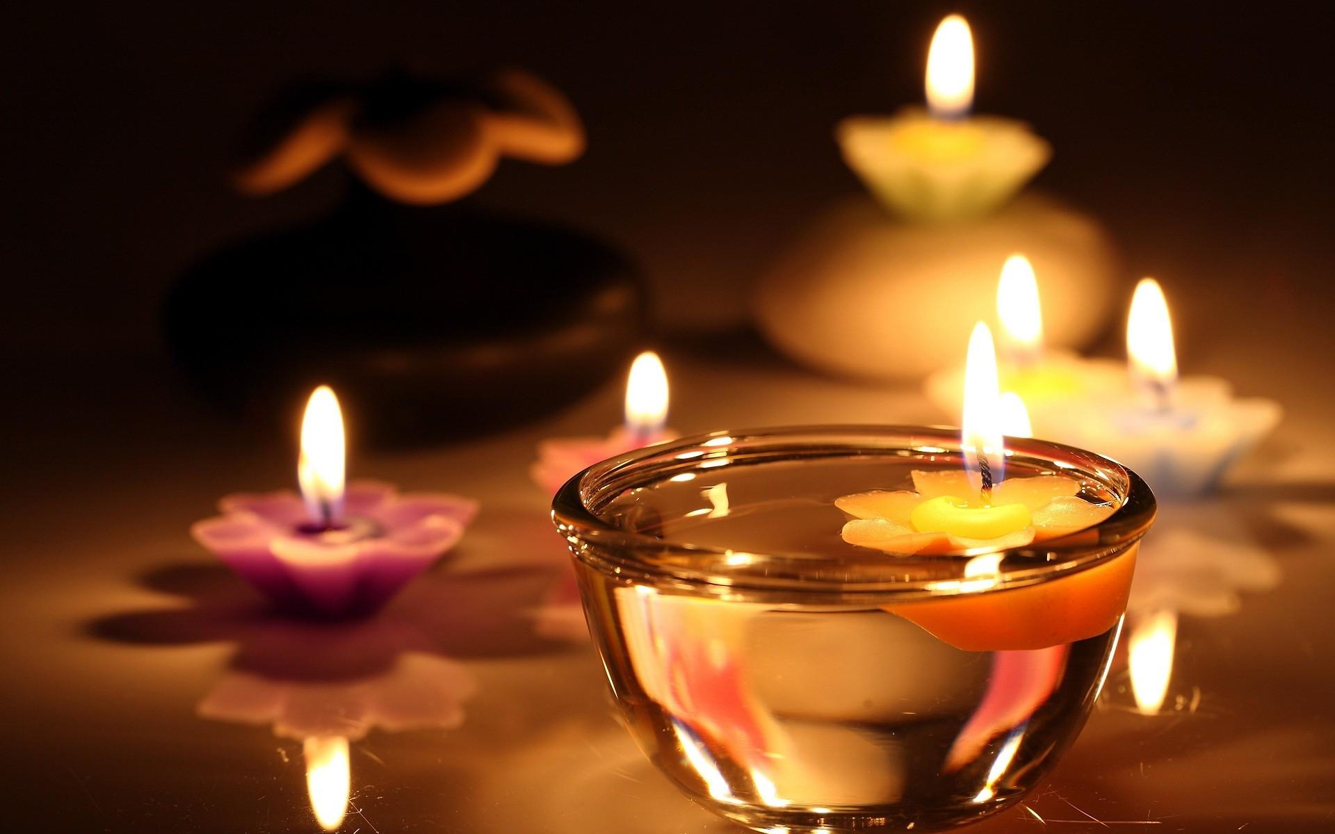 Beautiful candle lights wallpaper