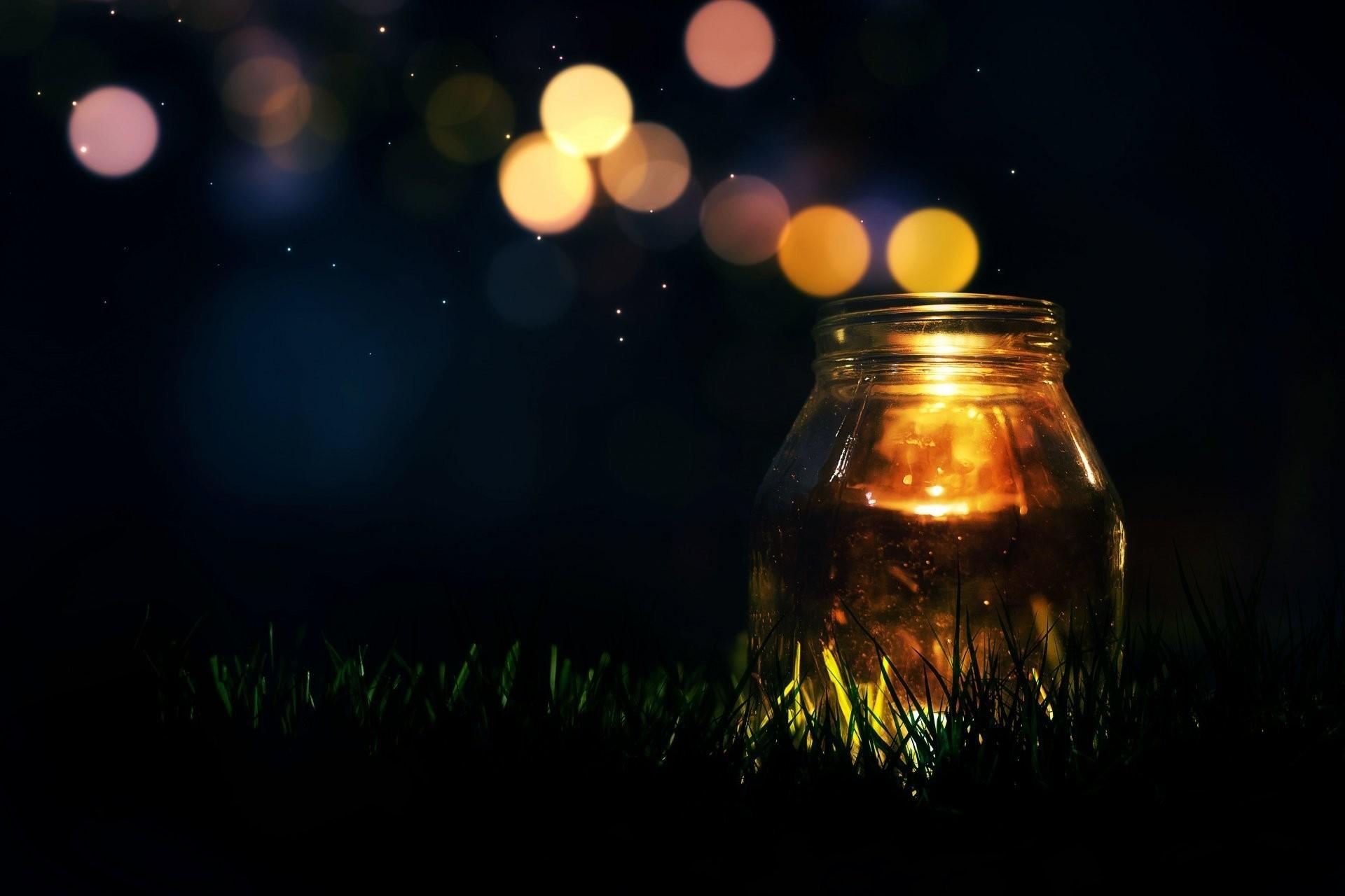 mood jar candle light sequins bokeh grass green background wallpaper  widescreen full screen widescreen hd wallpapers