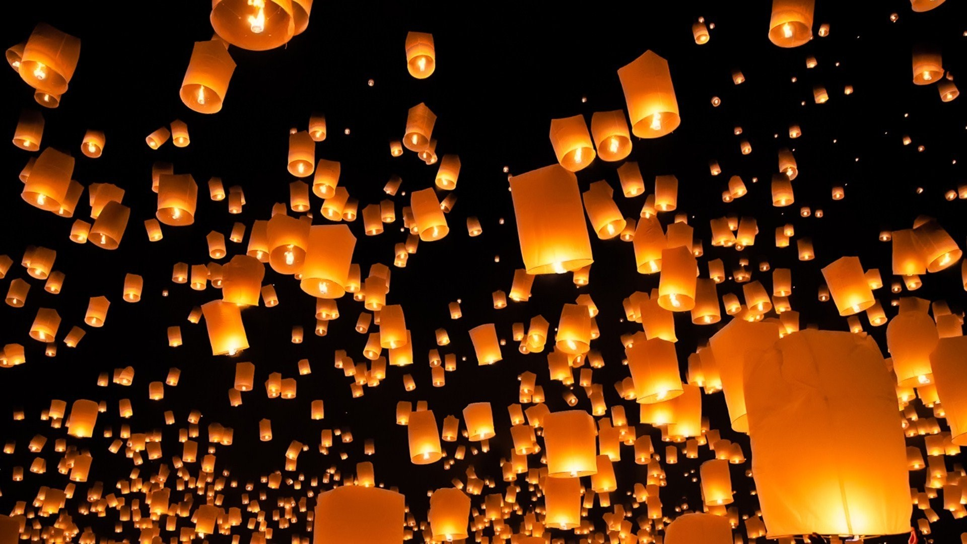 Candle lights flying amazing wallpapers