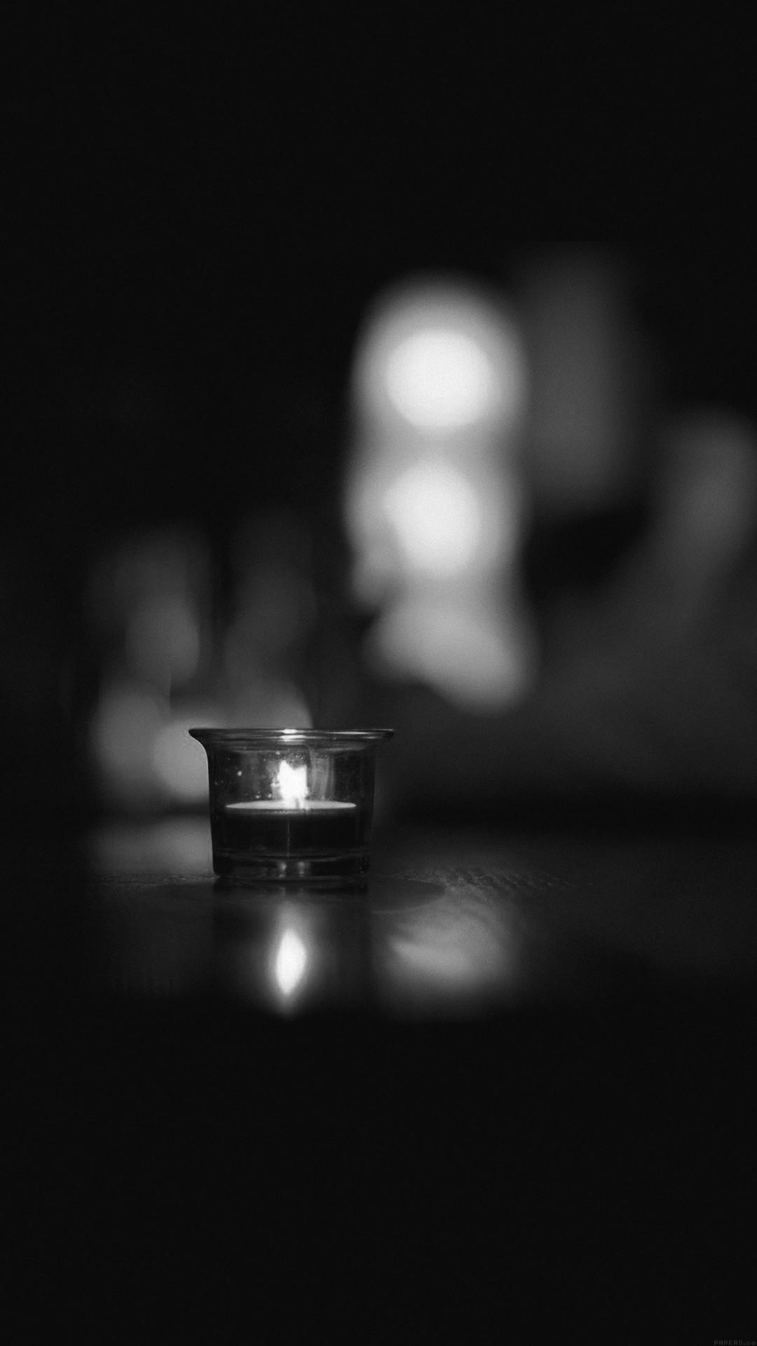 Candle Light Night Bw Bokeh Romantic #iPhone #6 #plus #wallpaper