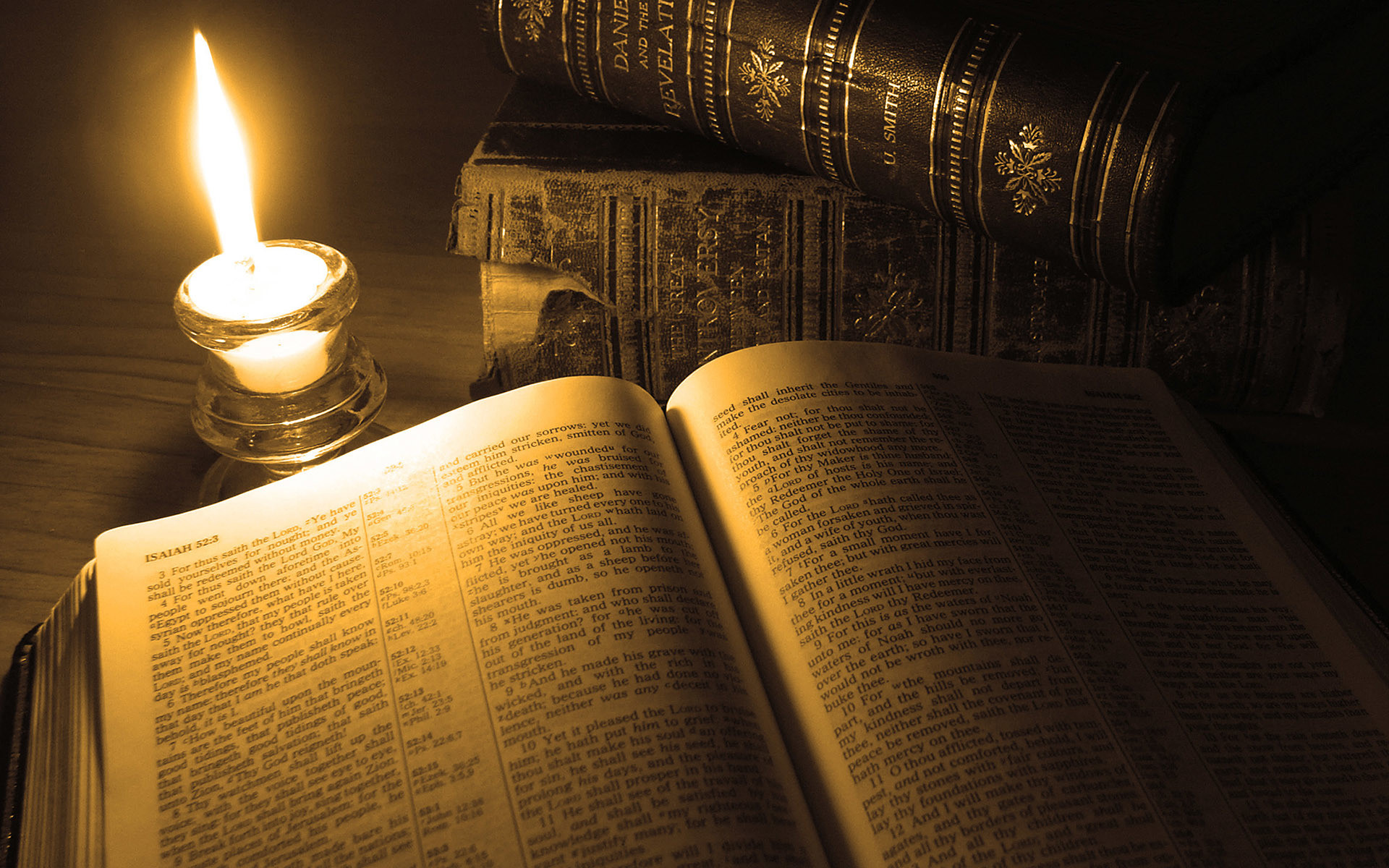 … Reading at the candle light