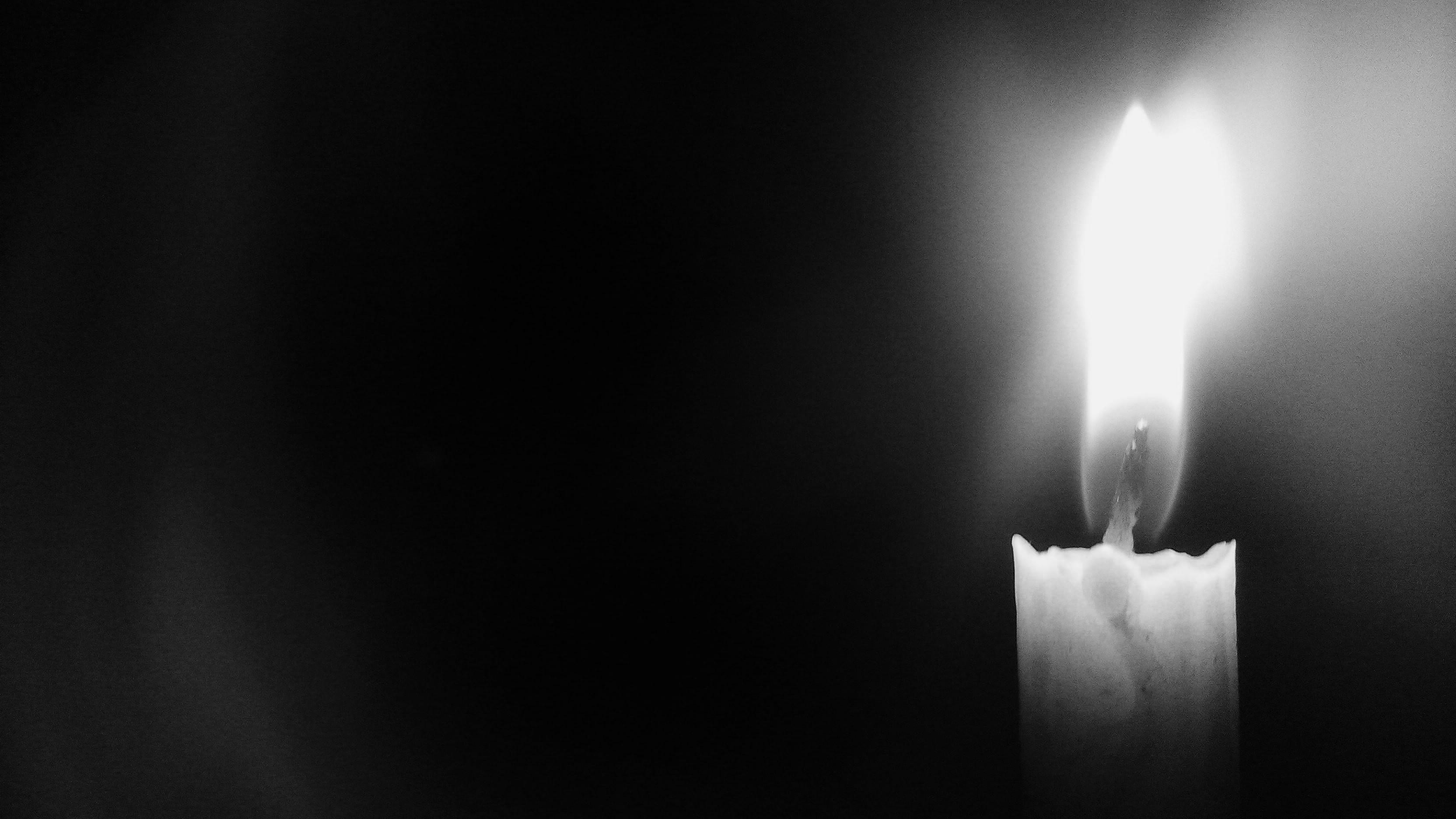 Candle Light Black White Wide Desktop Wallpaper Uploaded by Sk