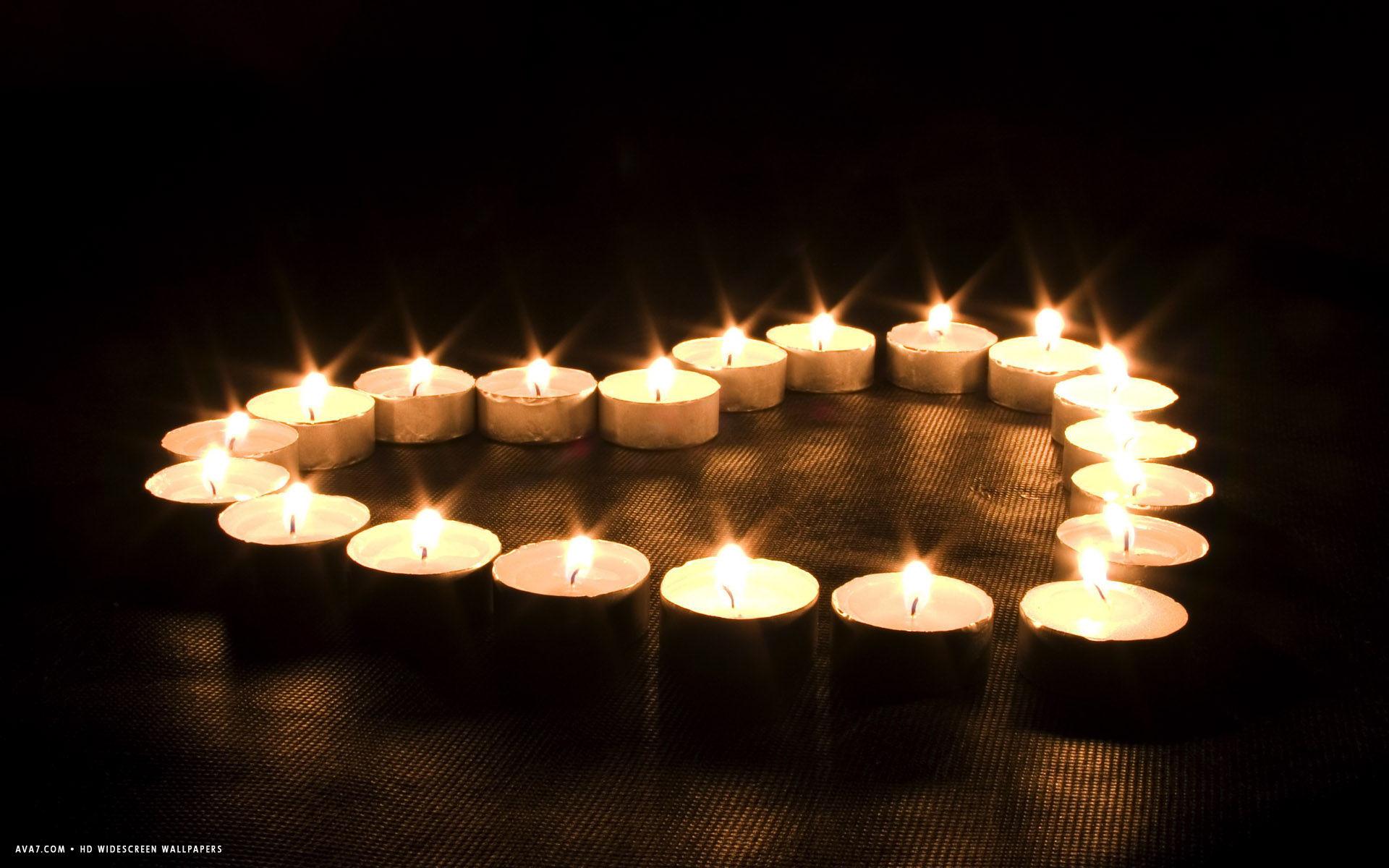 heart candles candle light shape hd widescreen wallpaper