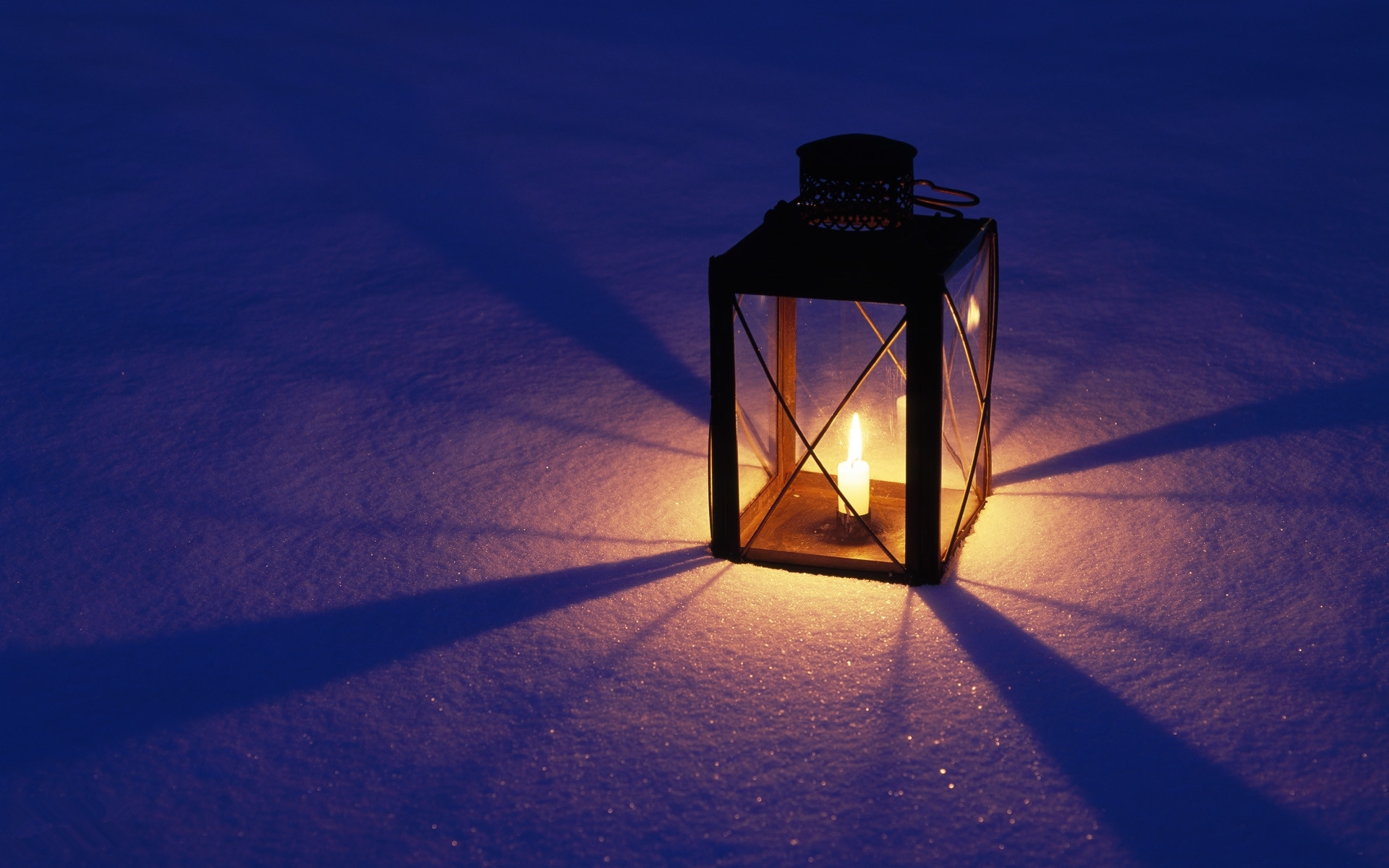 candle lamp on snowfield – Holiday Wallpapers – Hi-Wallpapers.com