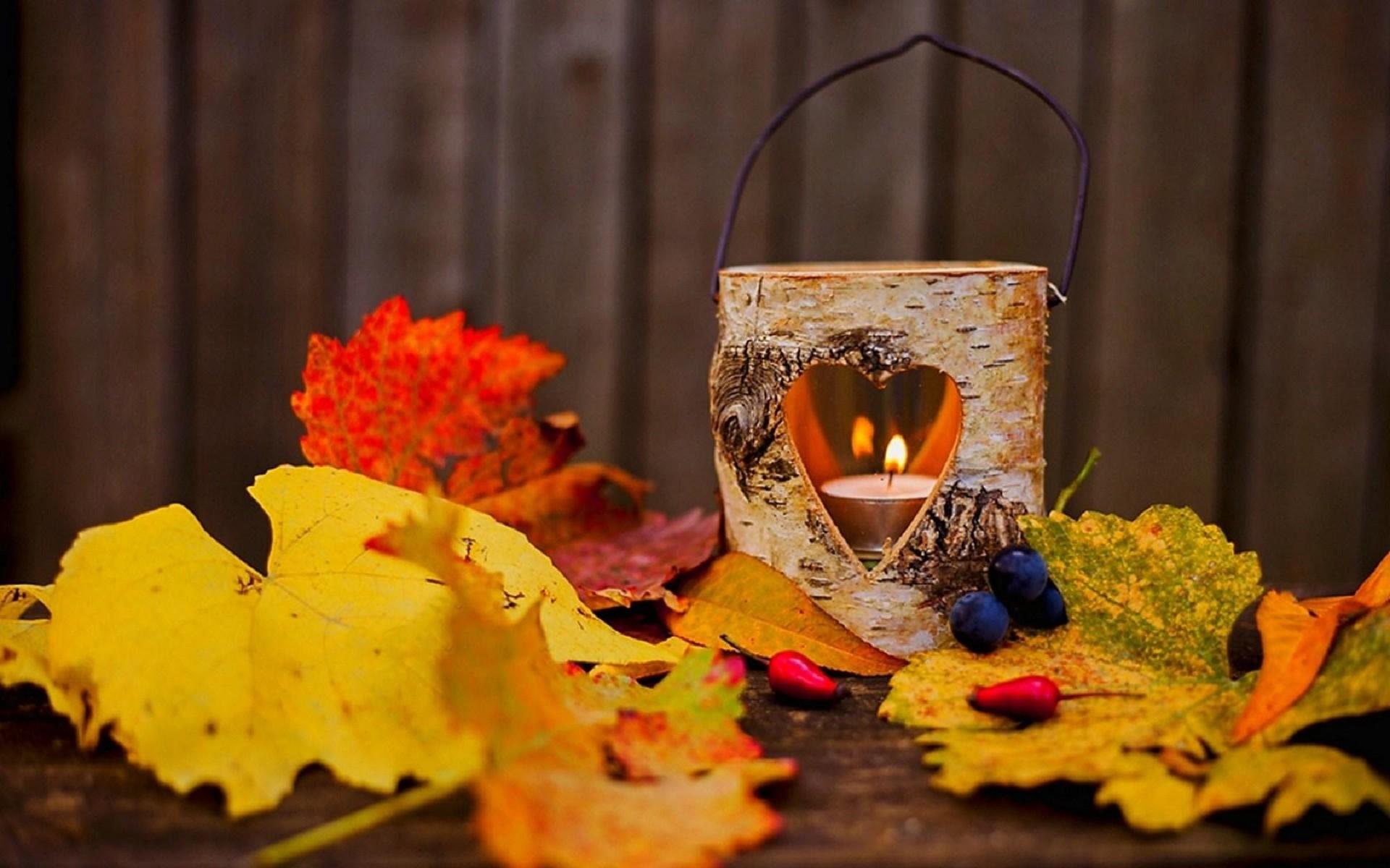 Candle light autumn wallpaper