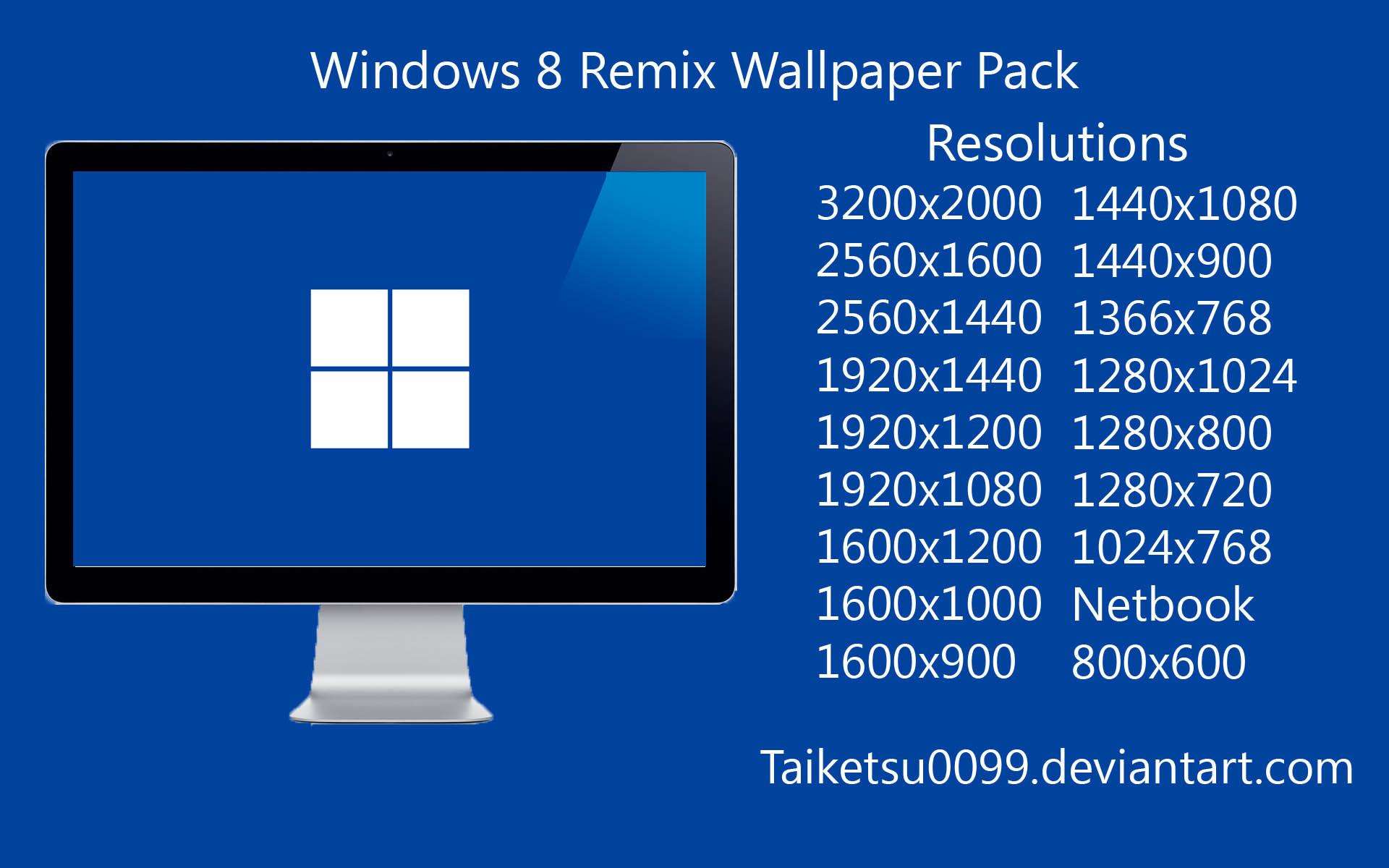 Windows Nt Wallpaper Windows 8 remix wallpaper pack