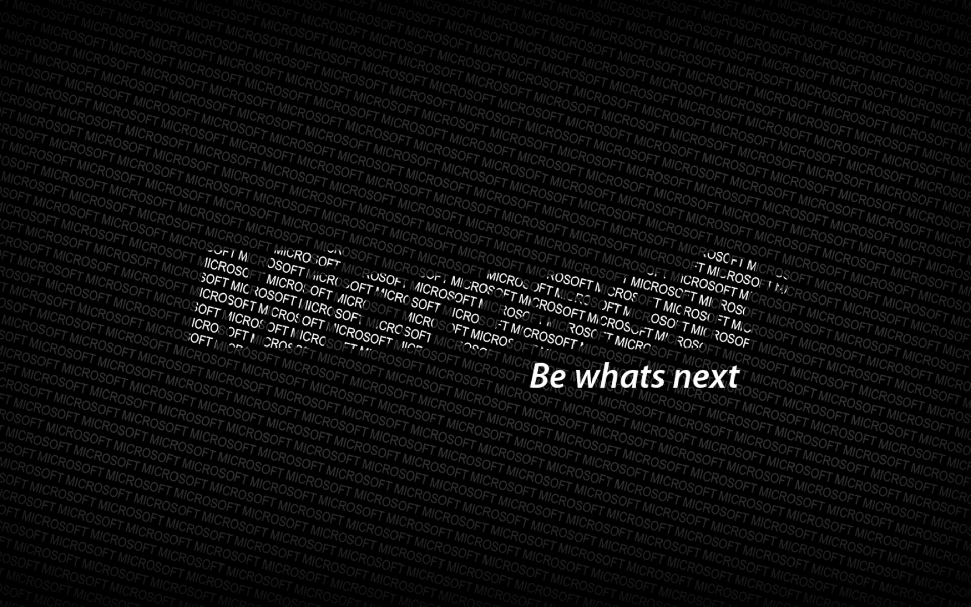 Preview wallpaper microsoft, logo, text, words, be whats next 1920×1200