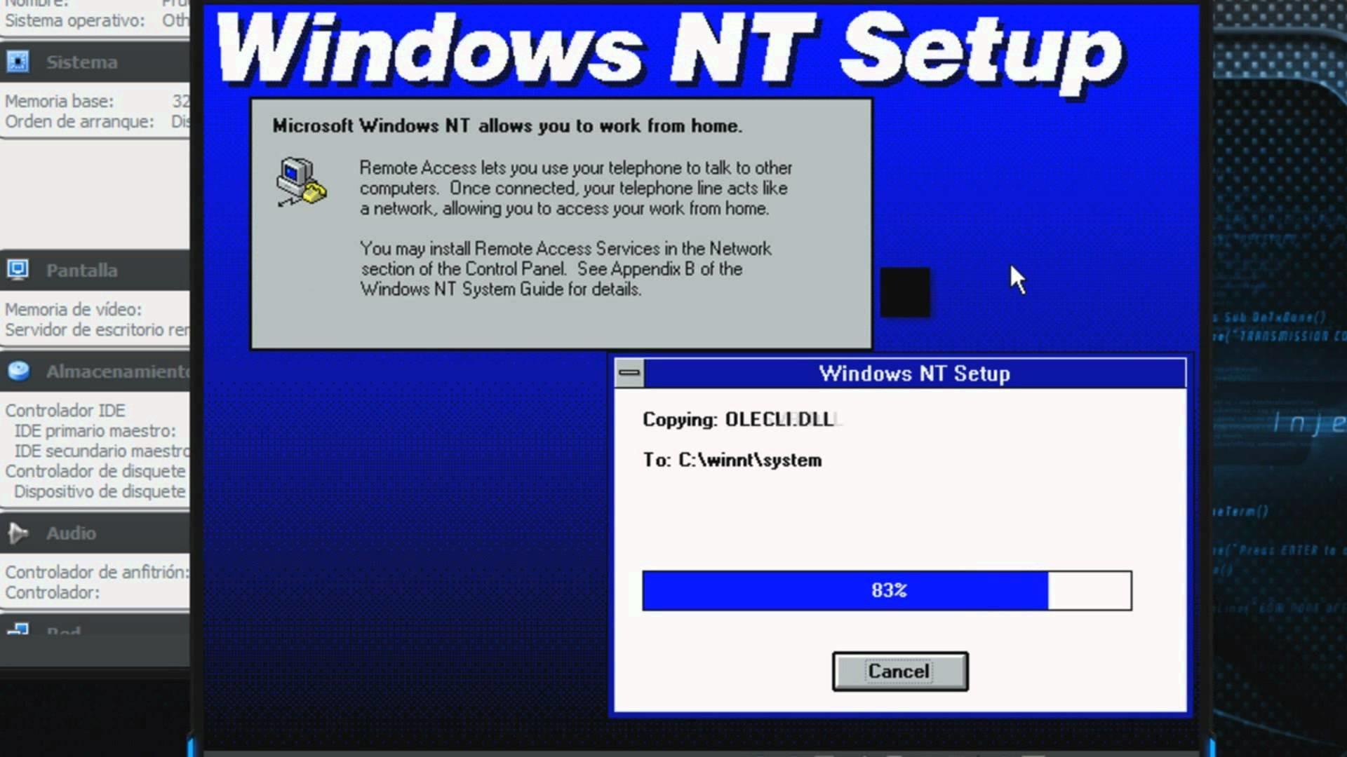 Como Instalar Windows NT 3.1 Workstation Build 528 RTM en Virtualbox