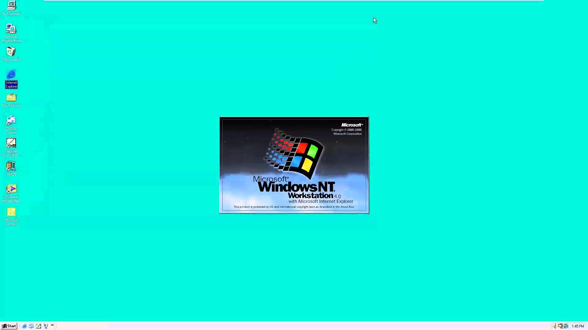 Windows NT Workstation 4.0 SP6 in VMware Workstation 12.0 (full 1080p)