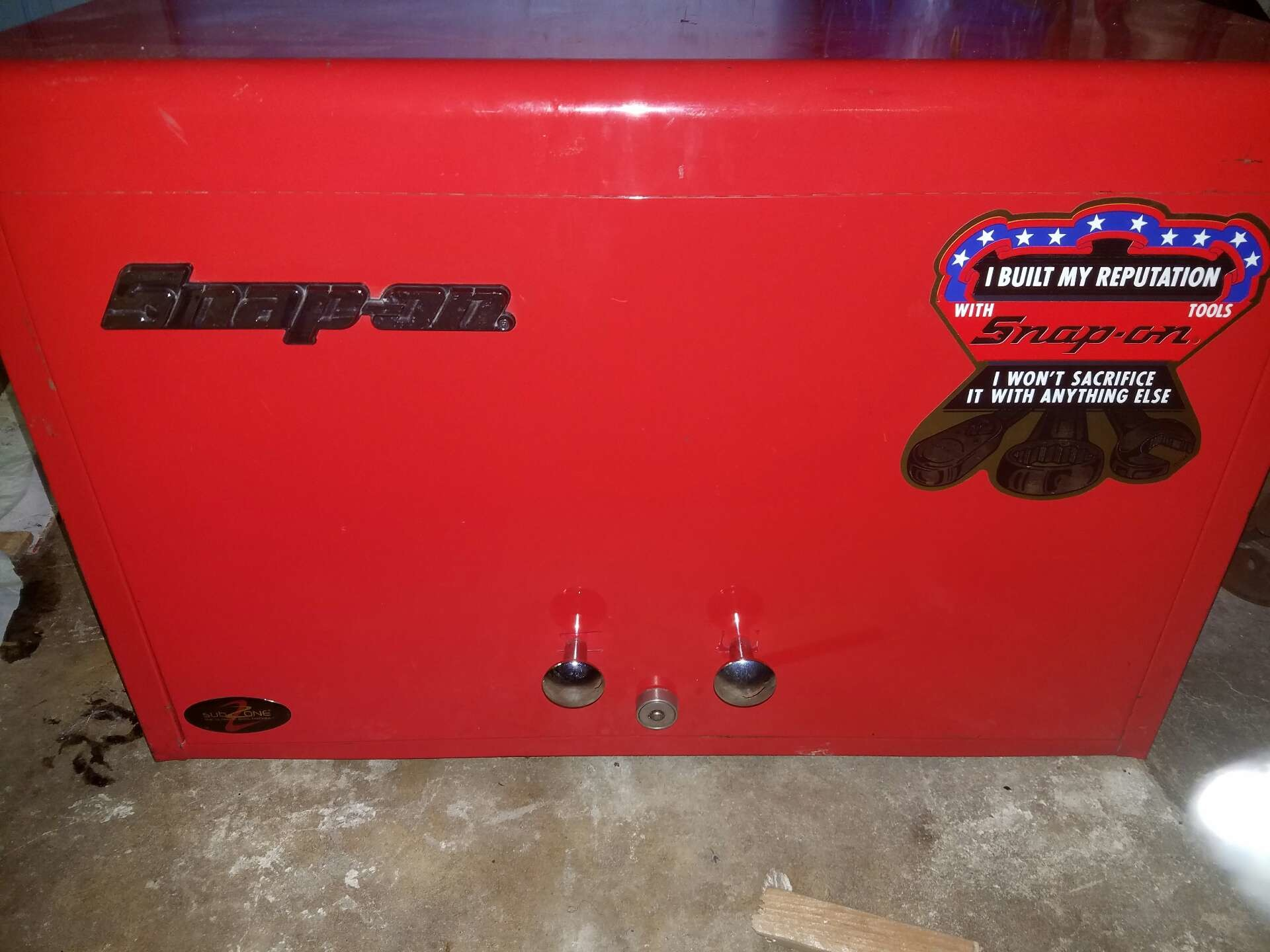 Snap On Tool Box 9 Drawer Top Chest Red In Good Condition With Original