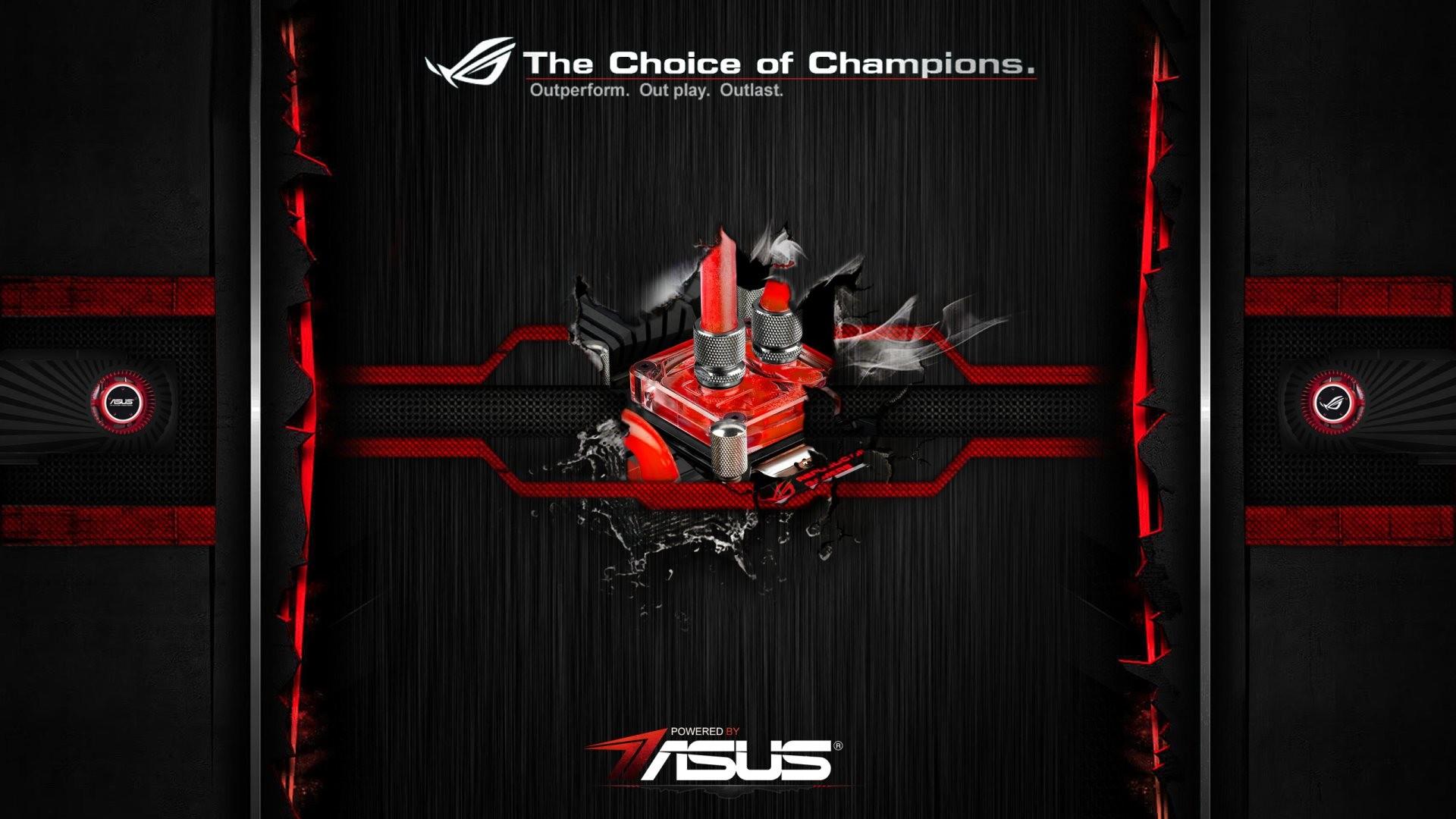 HD Wallpaper: Asus ROG Power Up