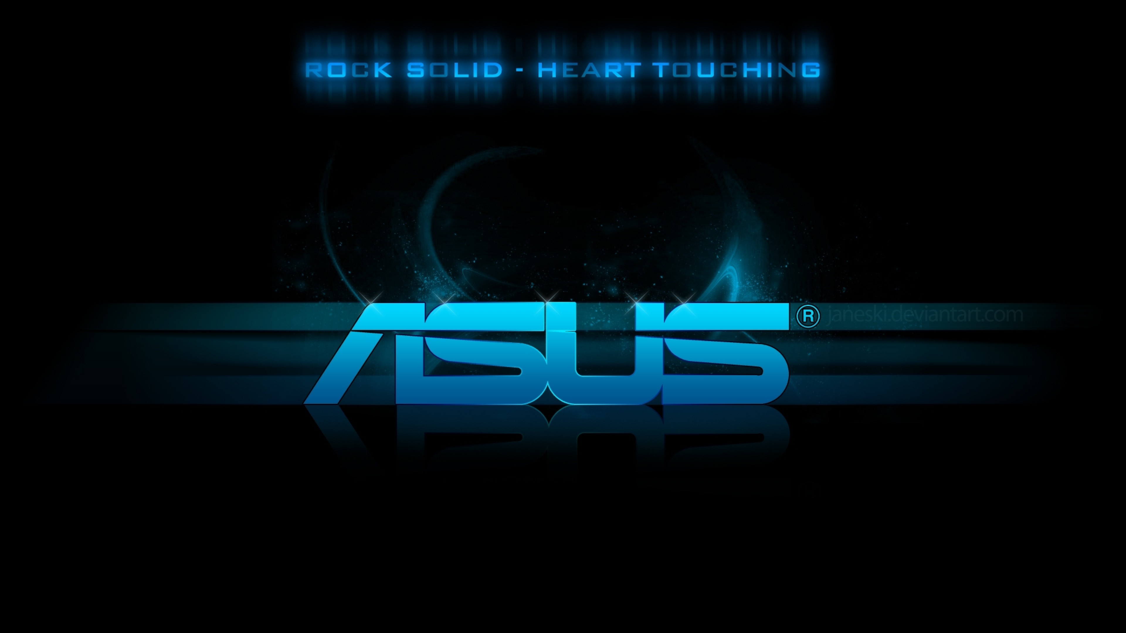 … Background 4K Ultra HD. Wallpaper asus, logo, blue, black
