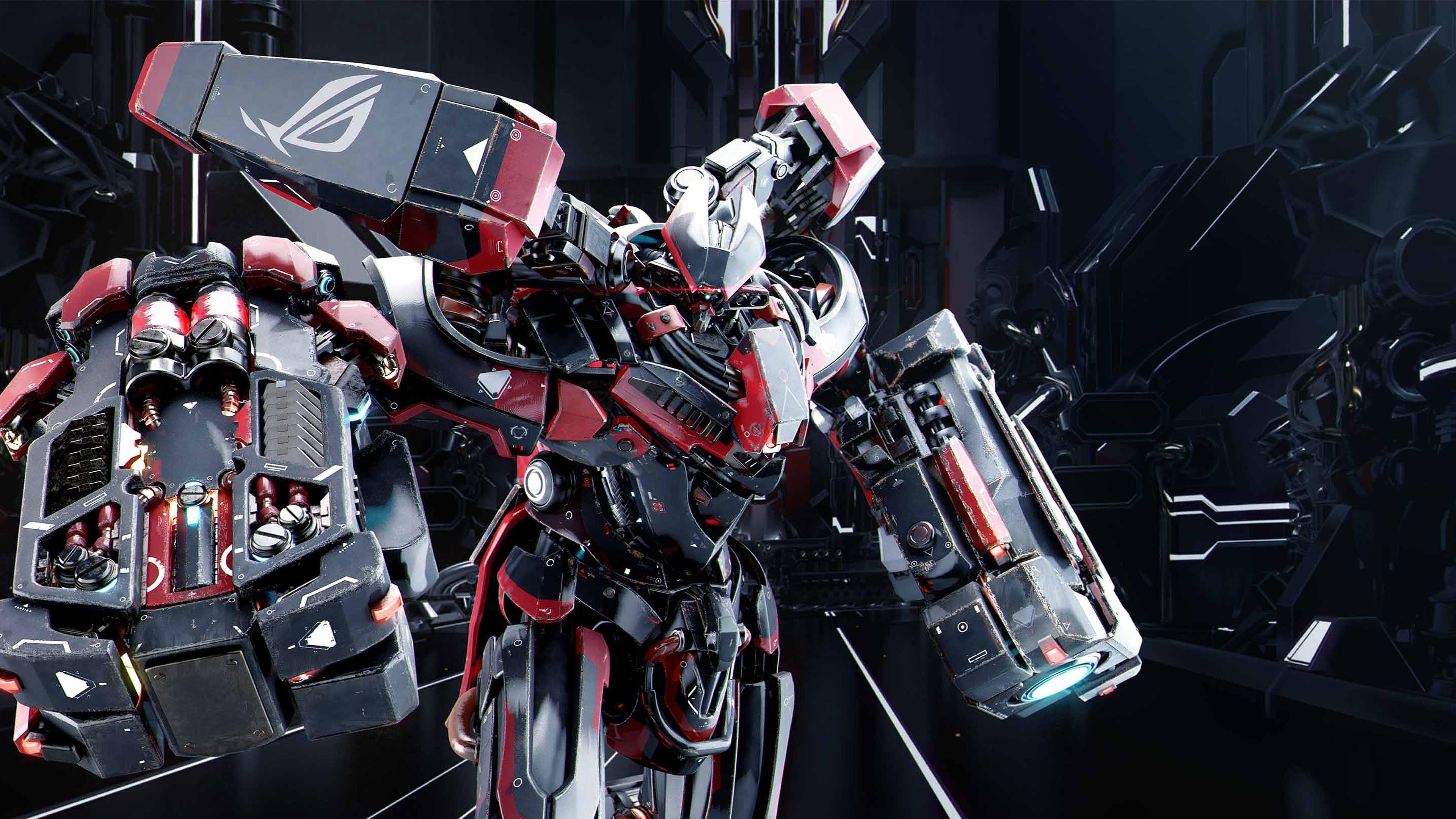 4K HD Wallpaper: Asus ROG Robot Mecha 2013