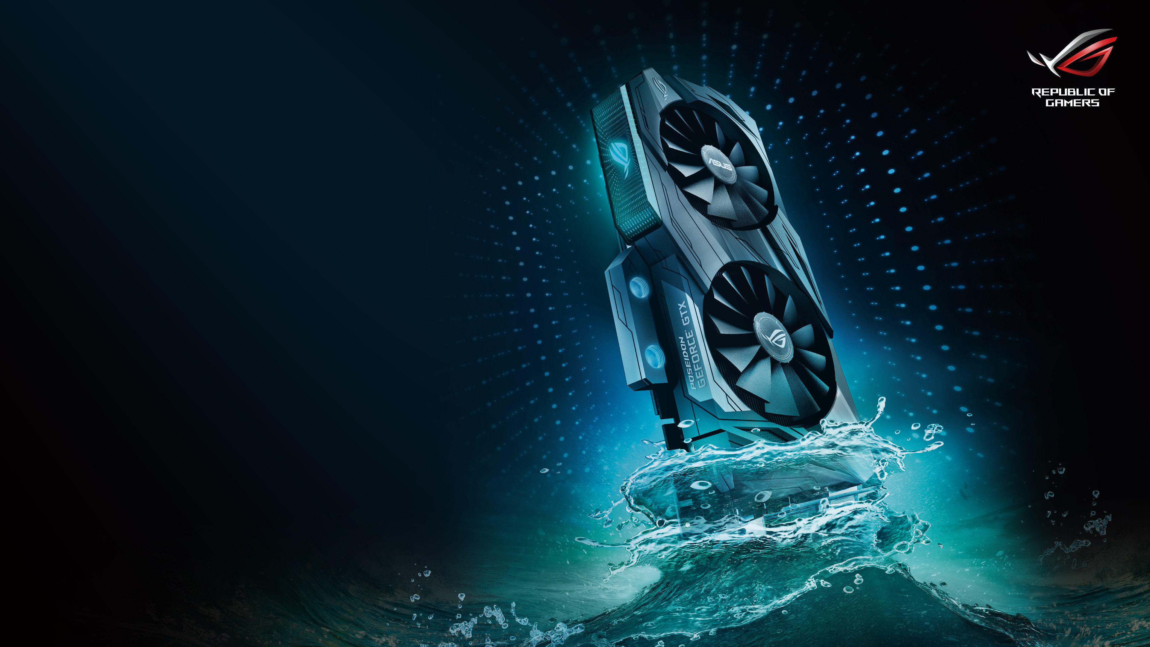 Asus ROG Poseidon GTX 1080 Ti 4K Wallpaper