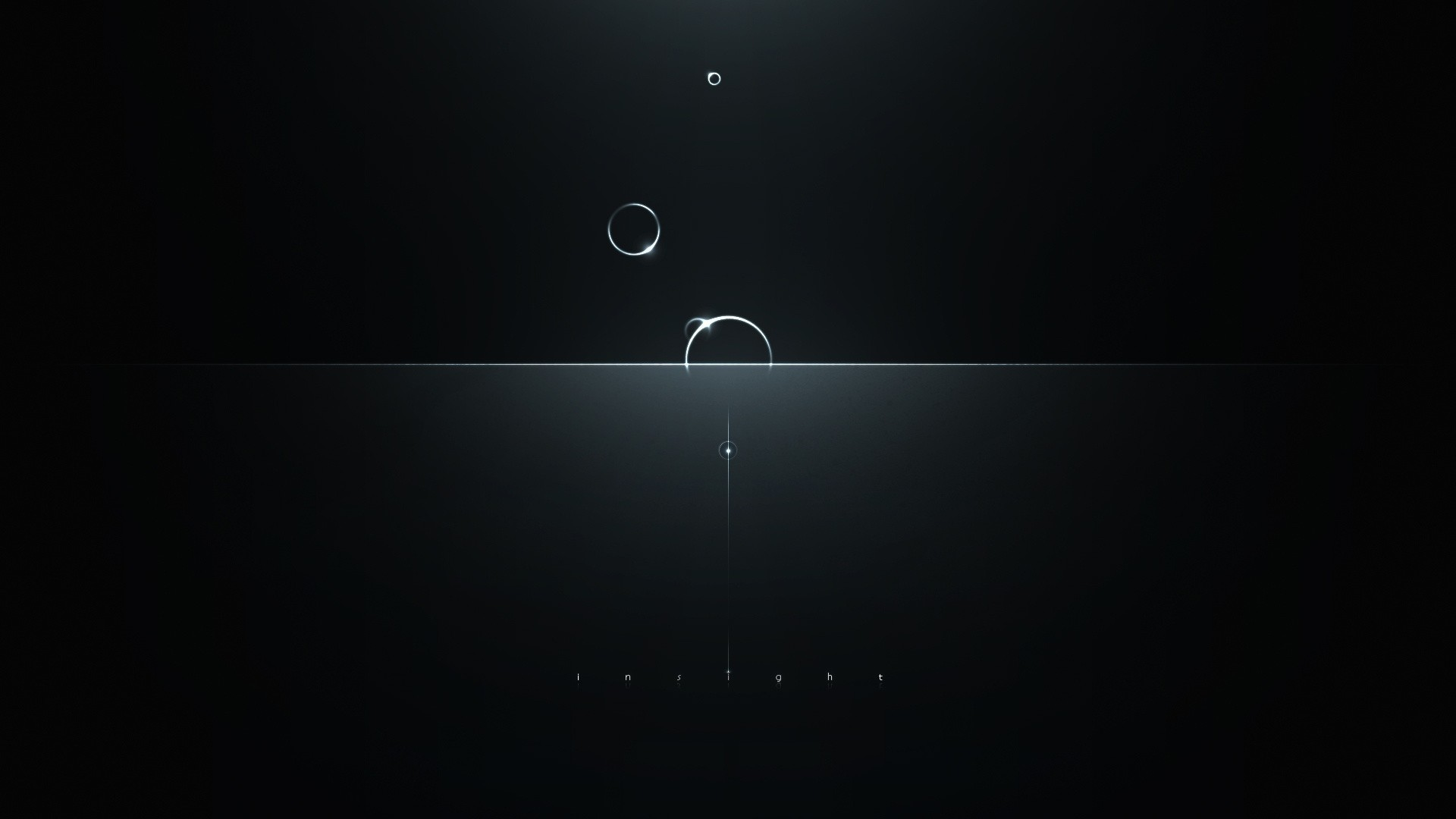 Preview wallpaper minimalism, circles, reflections, light, dark, intuition  1920×1080