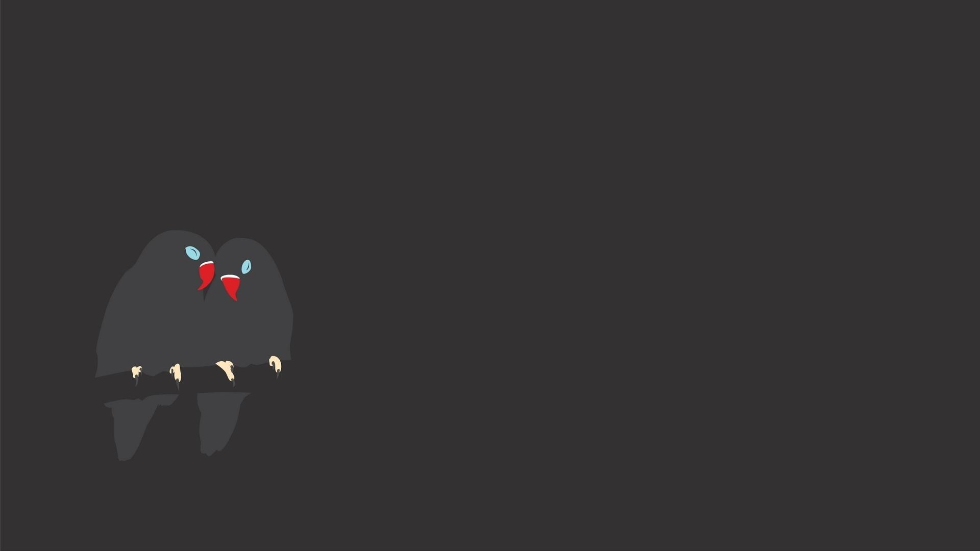 Preview wallpaper bird, branch, minimalist, design 1920×1080