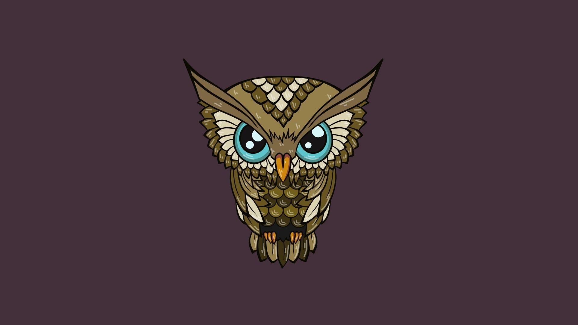 Download Wallpaper Owl, Minimalism, Art Full HD 1080p HD .