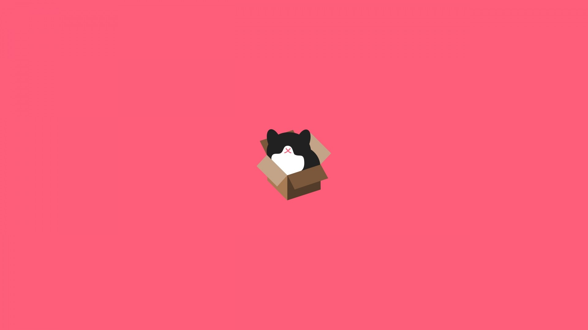 Wallpaper cat, box, design, minimalism