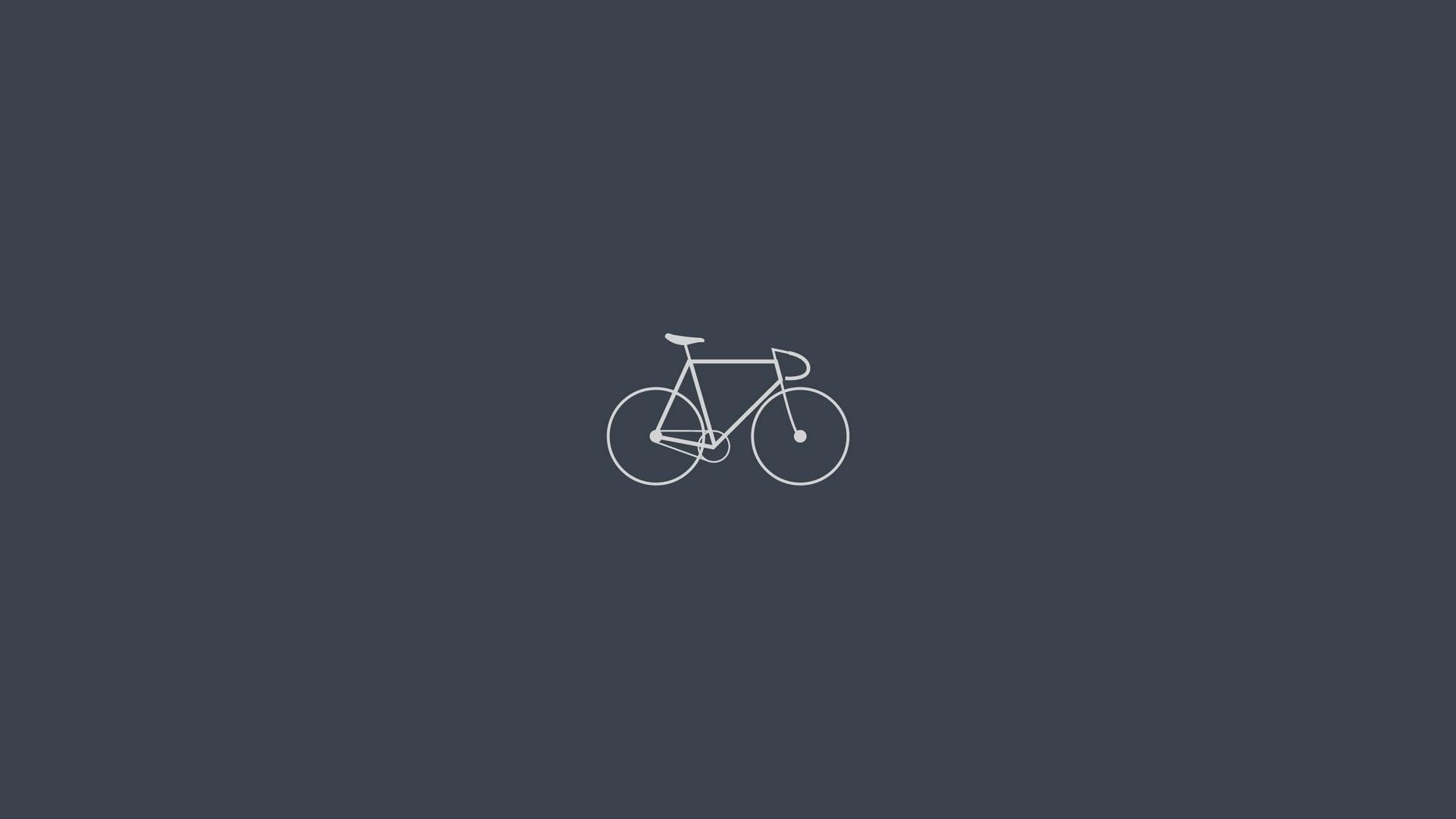 Wallpaper bicycle, minimalism, gray