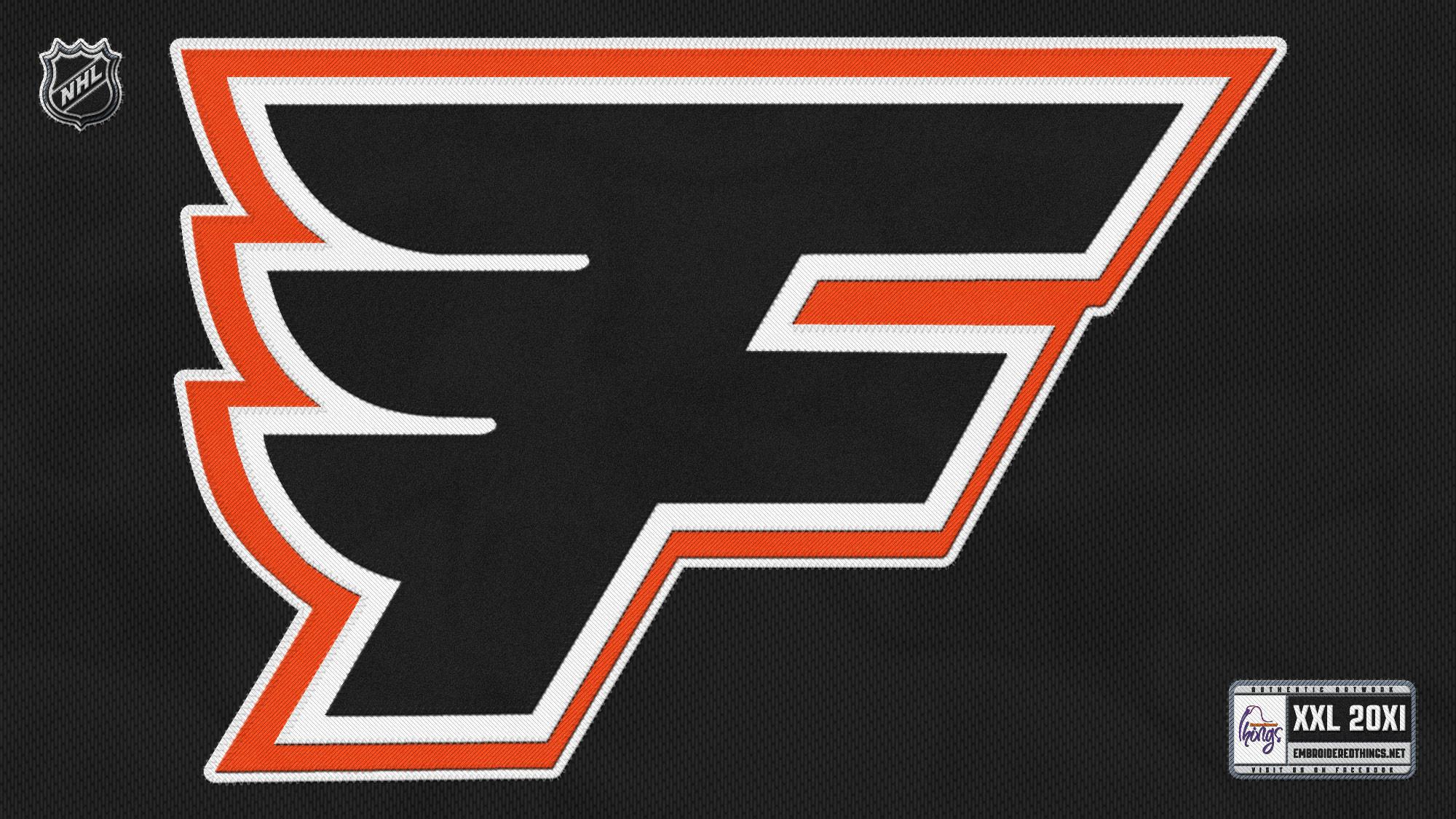 NHL Philadelphia Flyers Logo Black wallpaper HD. Free desktop .