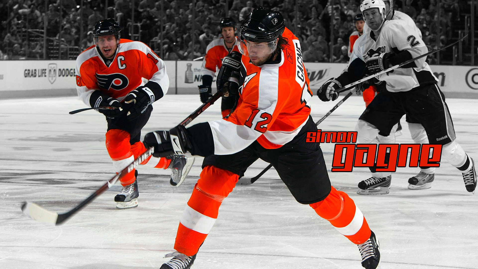 3D national hockey league NHL HD Wallpapers, Free HD wallpapers, Simon  Gagne, Philadelphia, Flyers