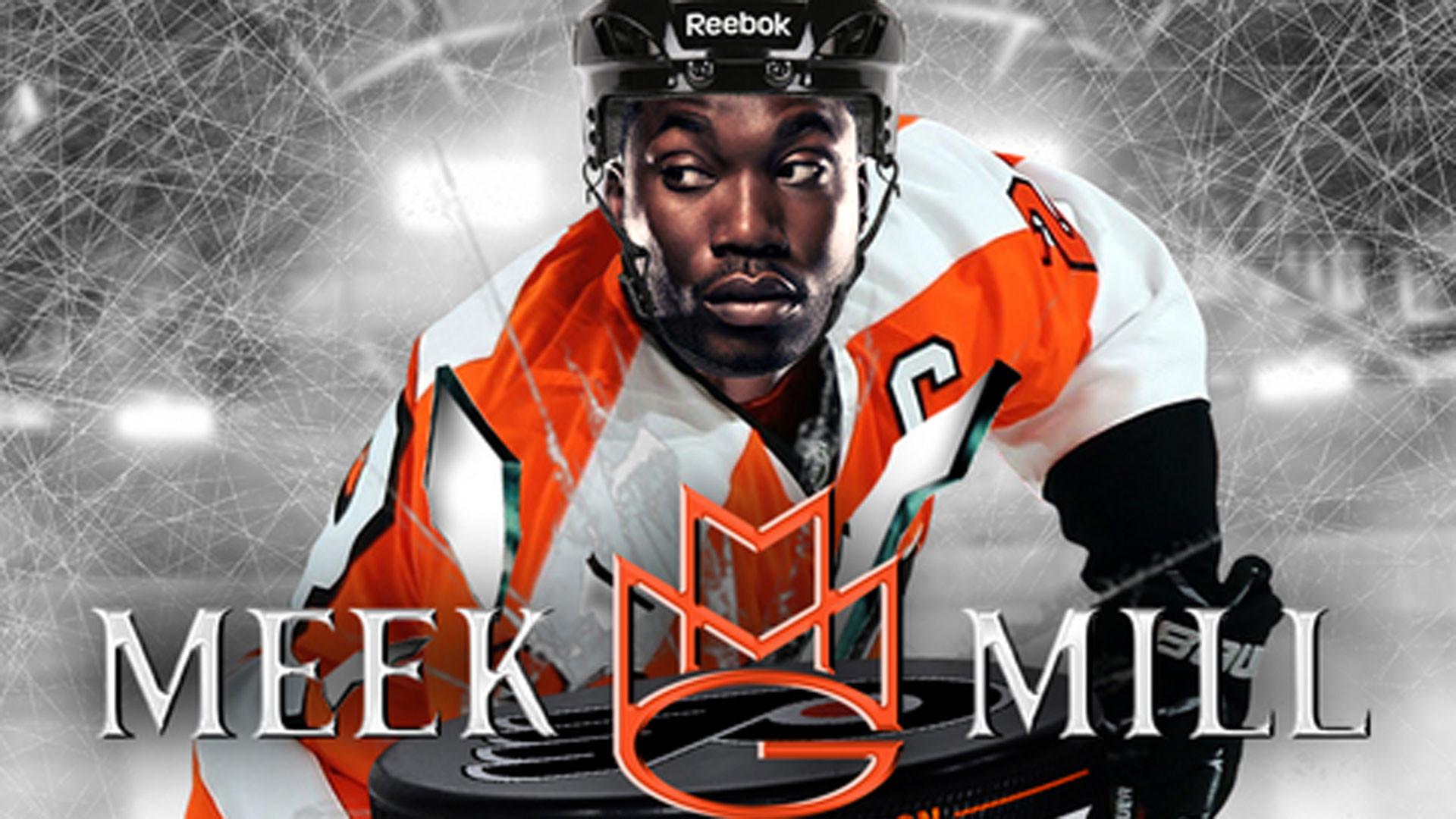 Meek Mill is a 'Philadelphia Flyer' on mixtape cover; MMG hockey fight?    NHL   Sporting News
