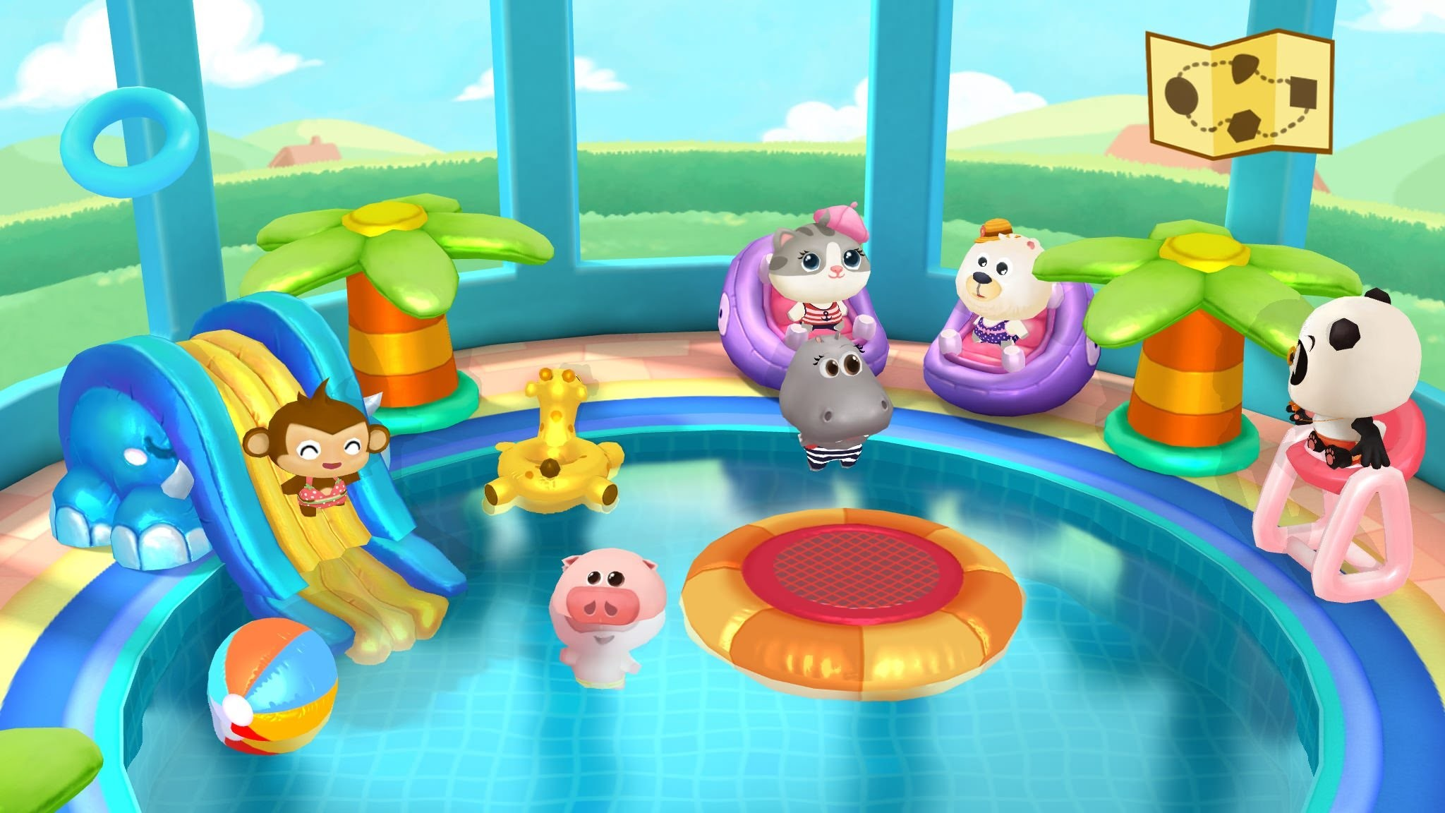 Dr. Panda's Swimming Pool – Game for Kids, iOS, Android, Kindle Fire –  YouTube