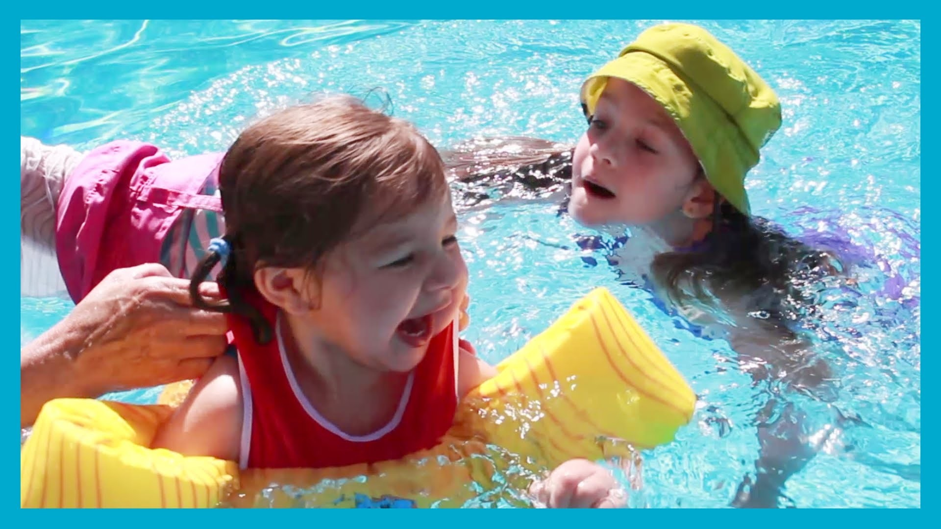 KIDS Swim In The Swimming Pool – GIRLS PLAYING VLOG- Water Gun Fight –  YOUTUBE VIDEO