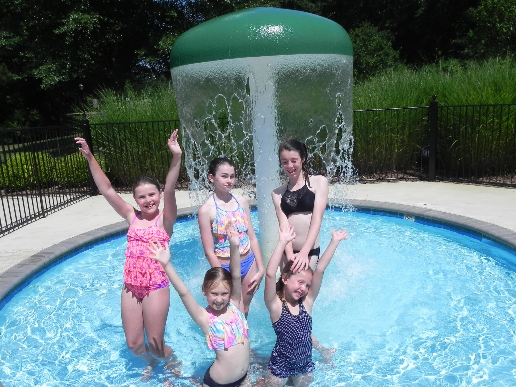 """… along with a waterfall """"mushroom"""" that offers hours of enjoyment for  the younger kids. The gracious aesthetics surrounding the pool completely  transform …"""