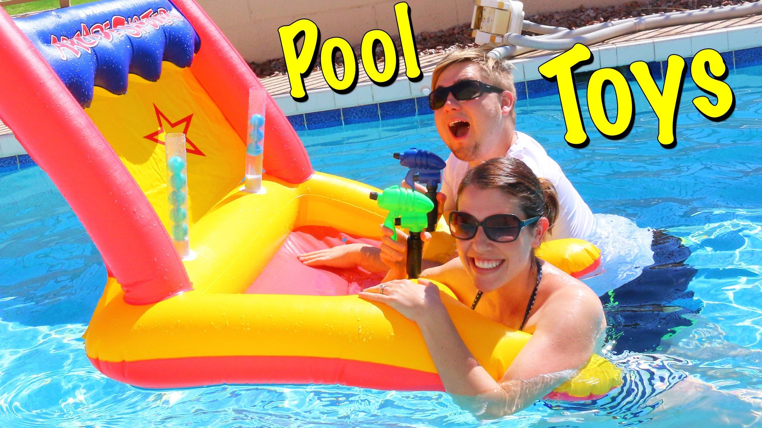 POOL GAMES! Swimming Pool Arcade Game Challenge Water Guns Play Kids Toys  Battle by DisneyCarToys – YouTube