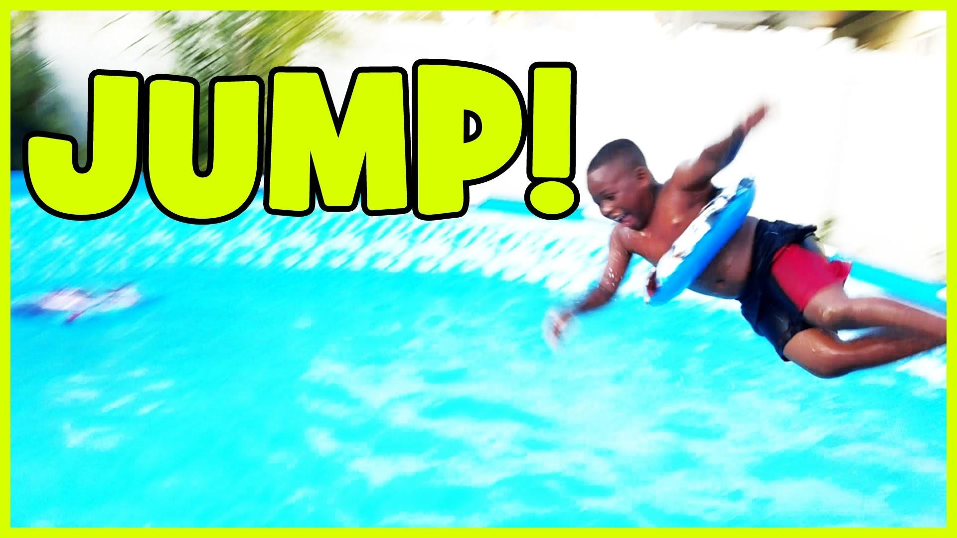 Kids Enjoying Diving in the Swimming Pool