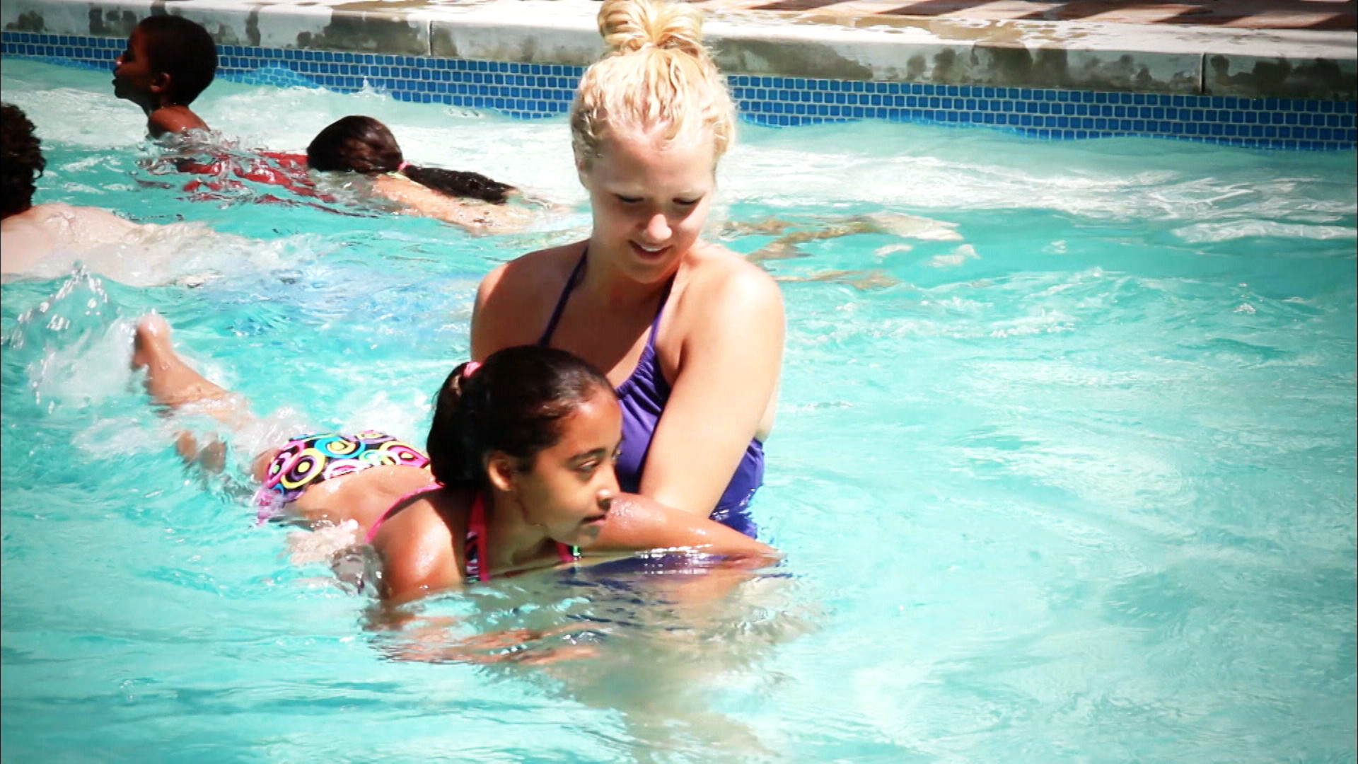 Whether you are taking the kids out to a community pool or using the pool  right in your backyard, it is important to have someone watching your kids.