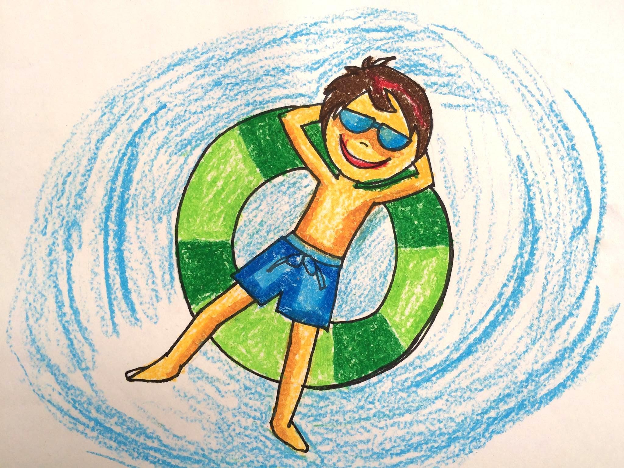 Painting summer for kids | How to draw swimming pool fun | Bé tập vẽ bể bÆ¡i  2 | Art for kids – YouTube