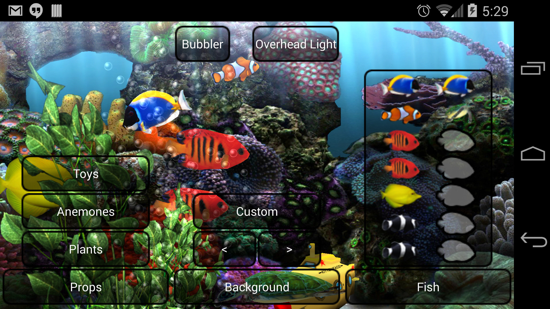 Aquarium live wallpaper android reviews at android quality index