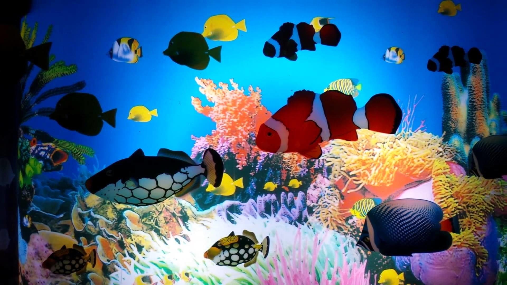 Animated Aquarium Scene Lamp