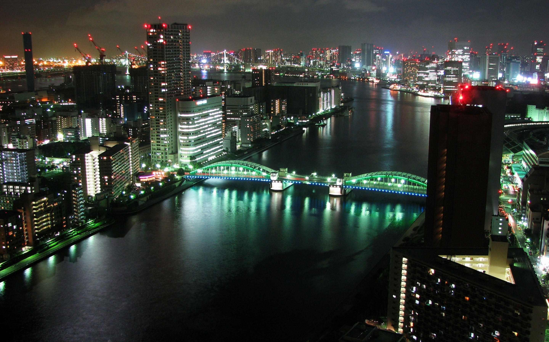 Tokyo Panoramic City Night Mac wallpaper