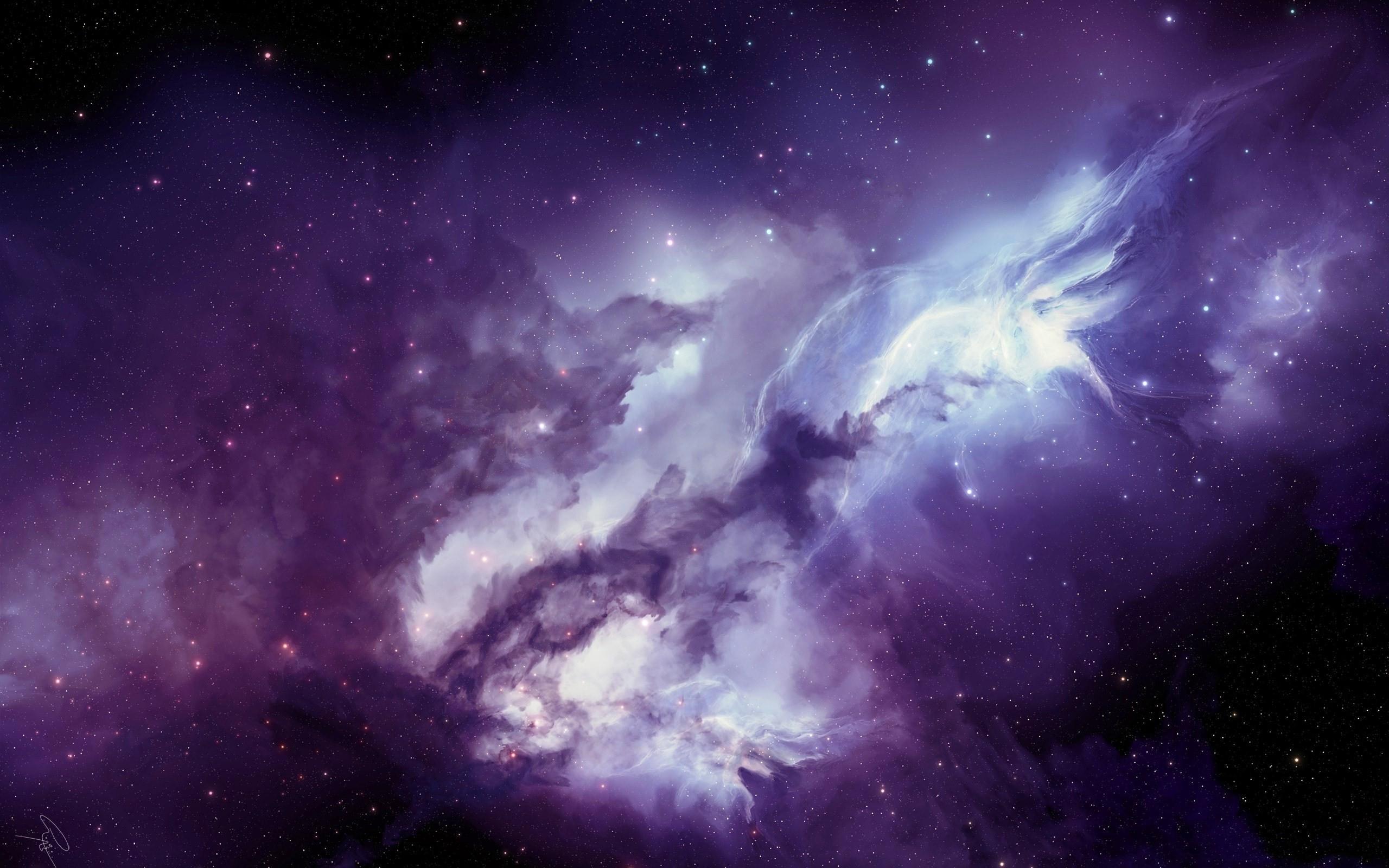 Angel galaxy Mac wallpaper